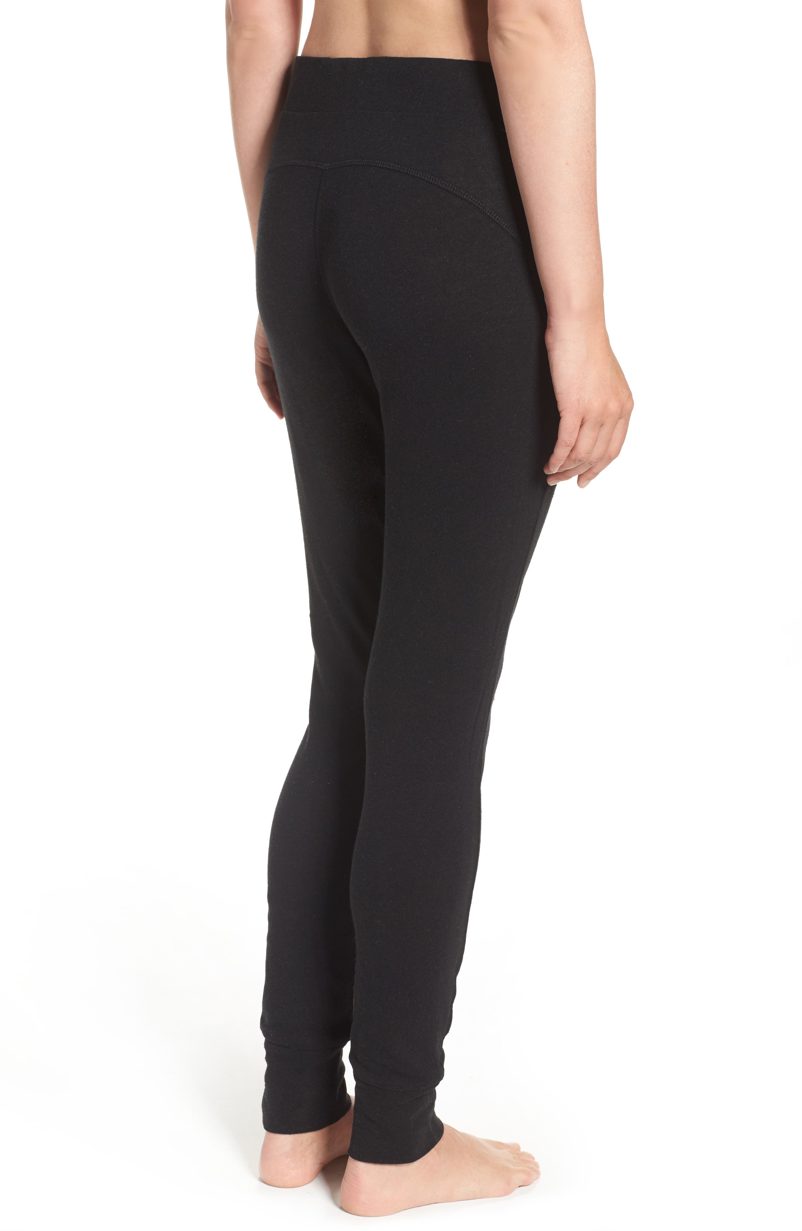 Clementine Cotton & Silk Pajama Pants,                             Alternate thumbnail 2, color,                             Black