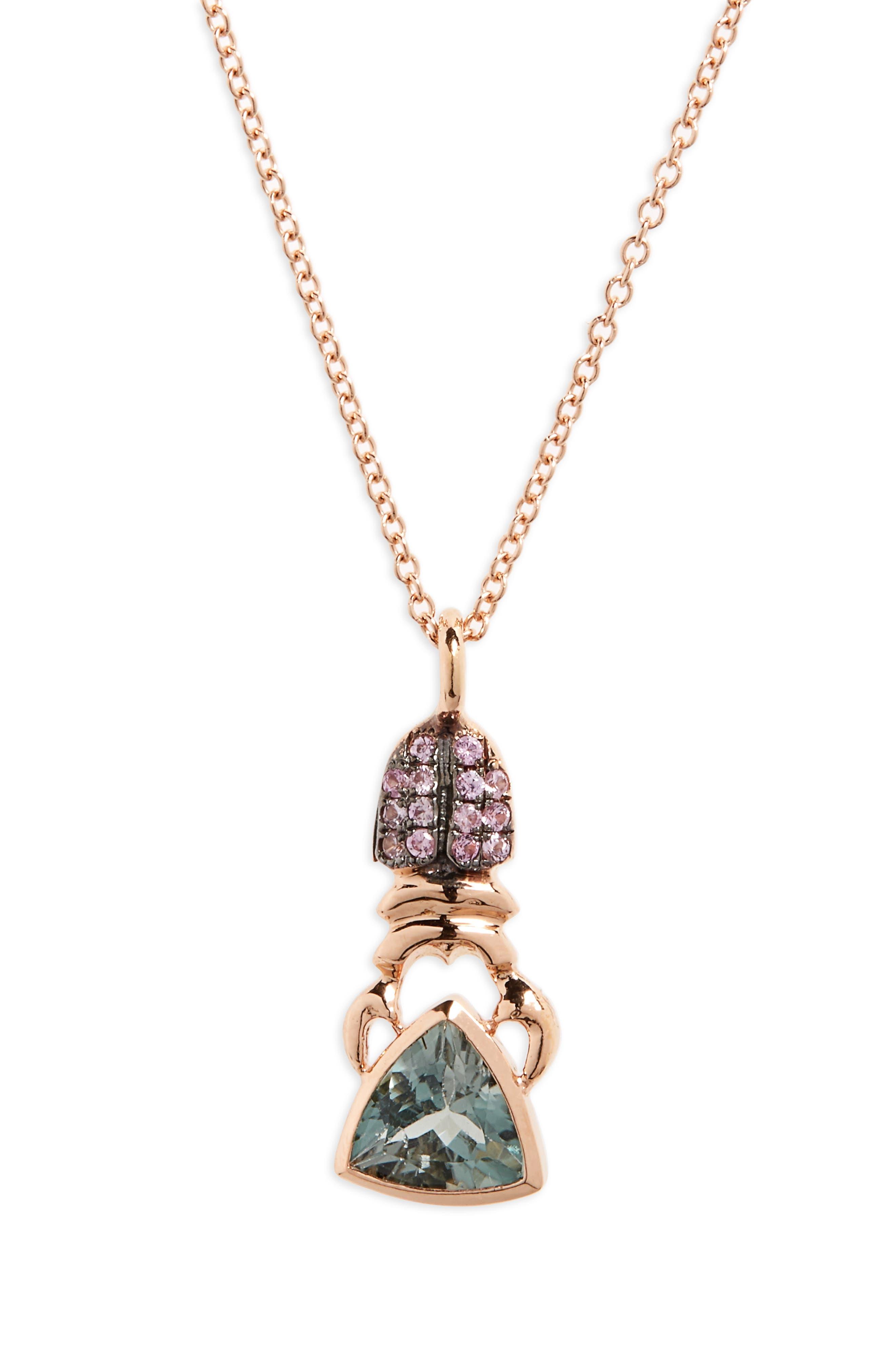 DANIELA VILLEGAS Khepri Sapphire Pendant Necklace