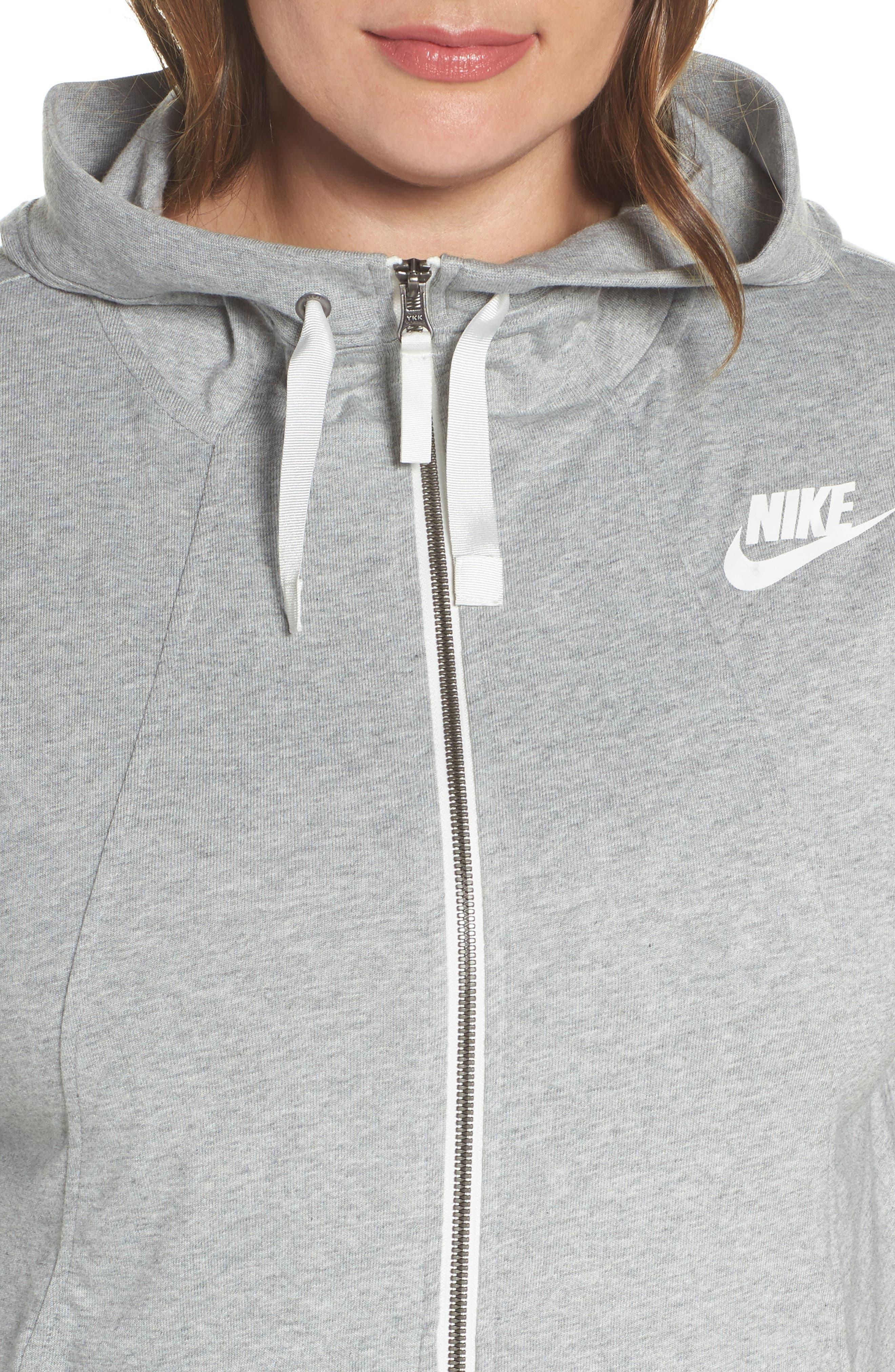Alternate Image 4  - Nike Sportswear Gym Classic Hoodie (Plus Size)