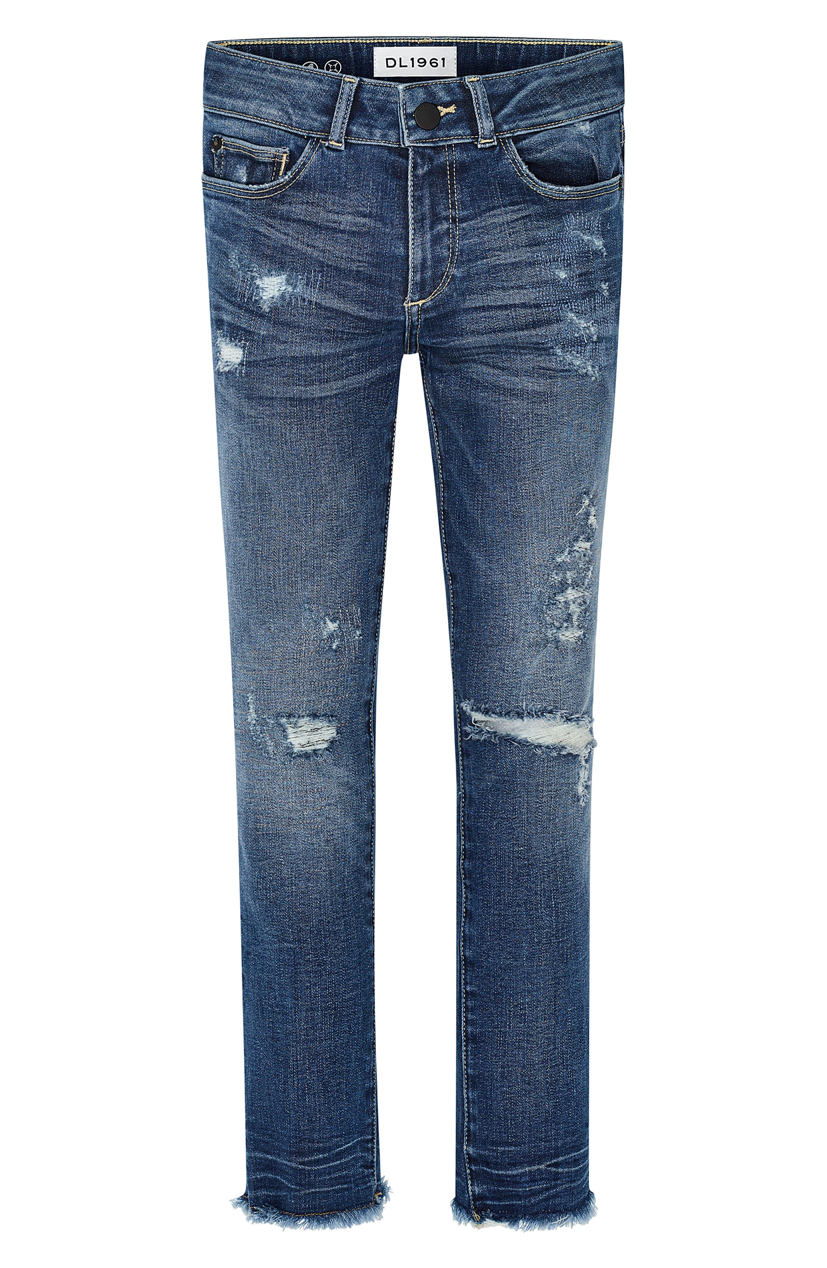 Distressed Skinny Jeans,                         Main,                         color, Sumner