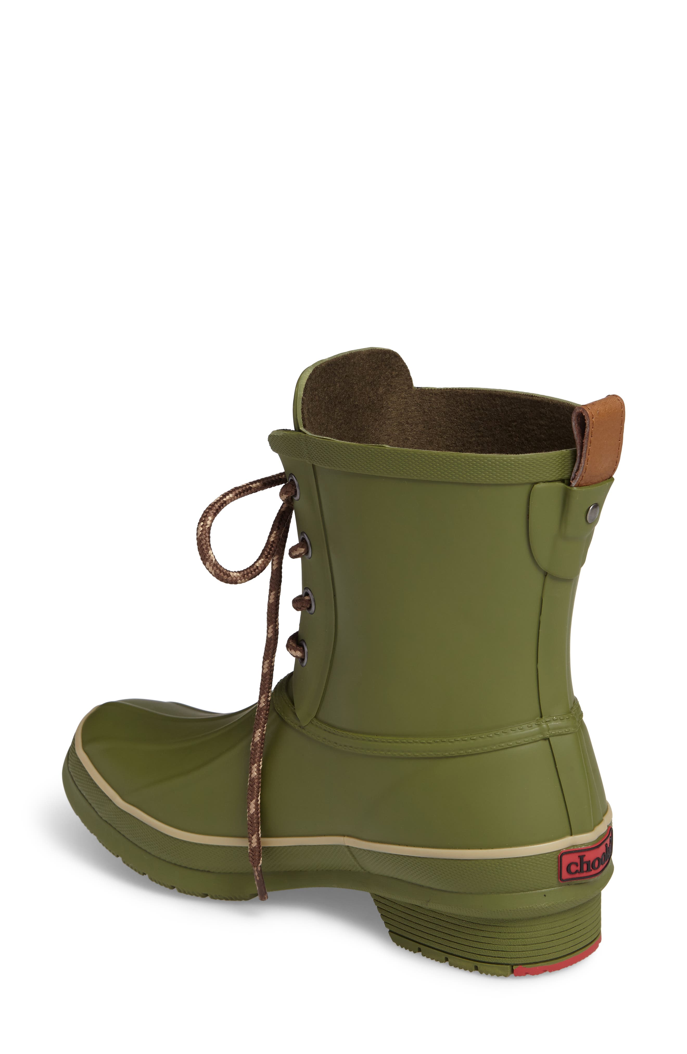 Classic Lace-Up Duck Boot,                             Alternate thumbnail 2, color,                             Olive