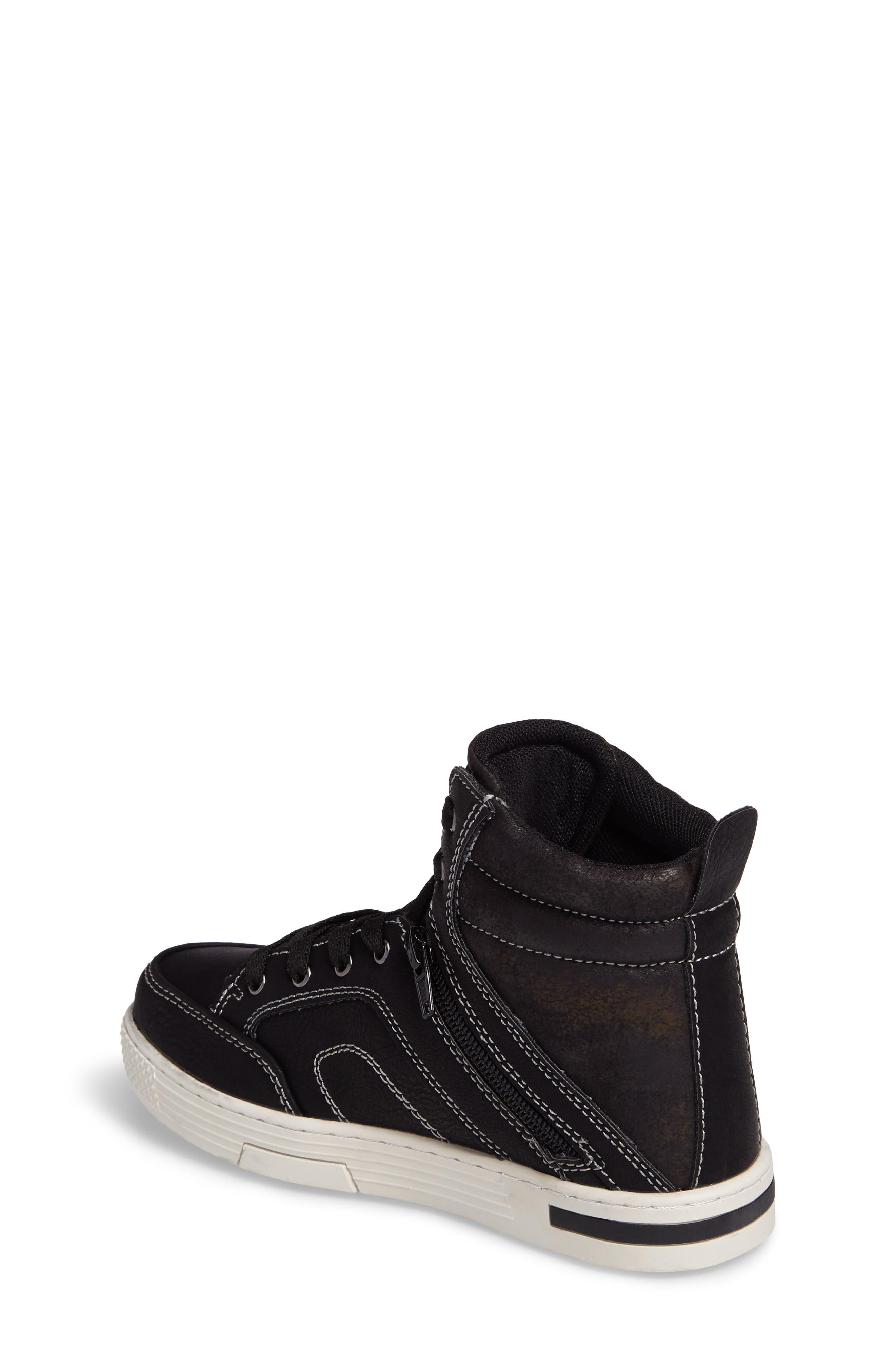 Cooler High Top Sneaker,                             Alternate thumbnail 2, color,                             Black