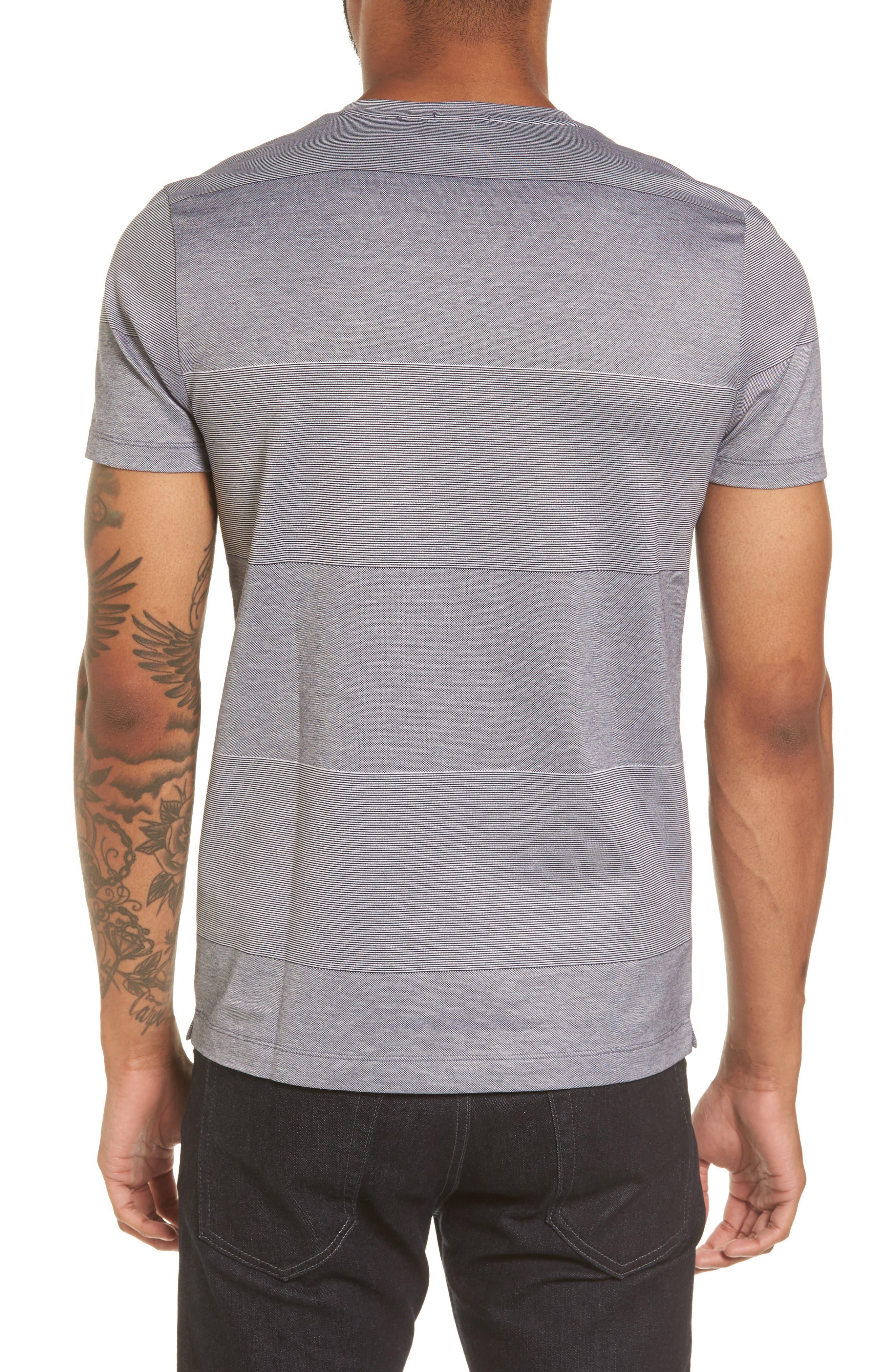 Alternate Image 2  - BOSS Slim Fit Stripe V-Neck T-Shirt