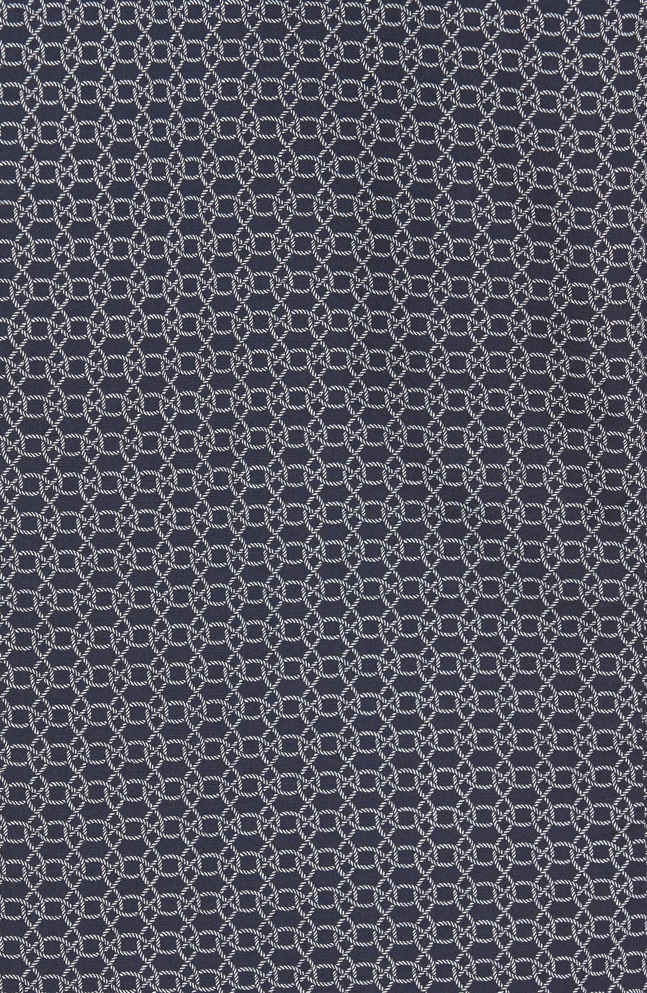 Alternate Image 6  - BOSS Robb Sharp Fit Knot Print Sport Shirt