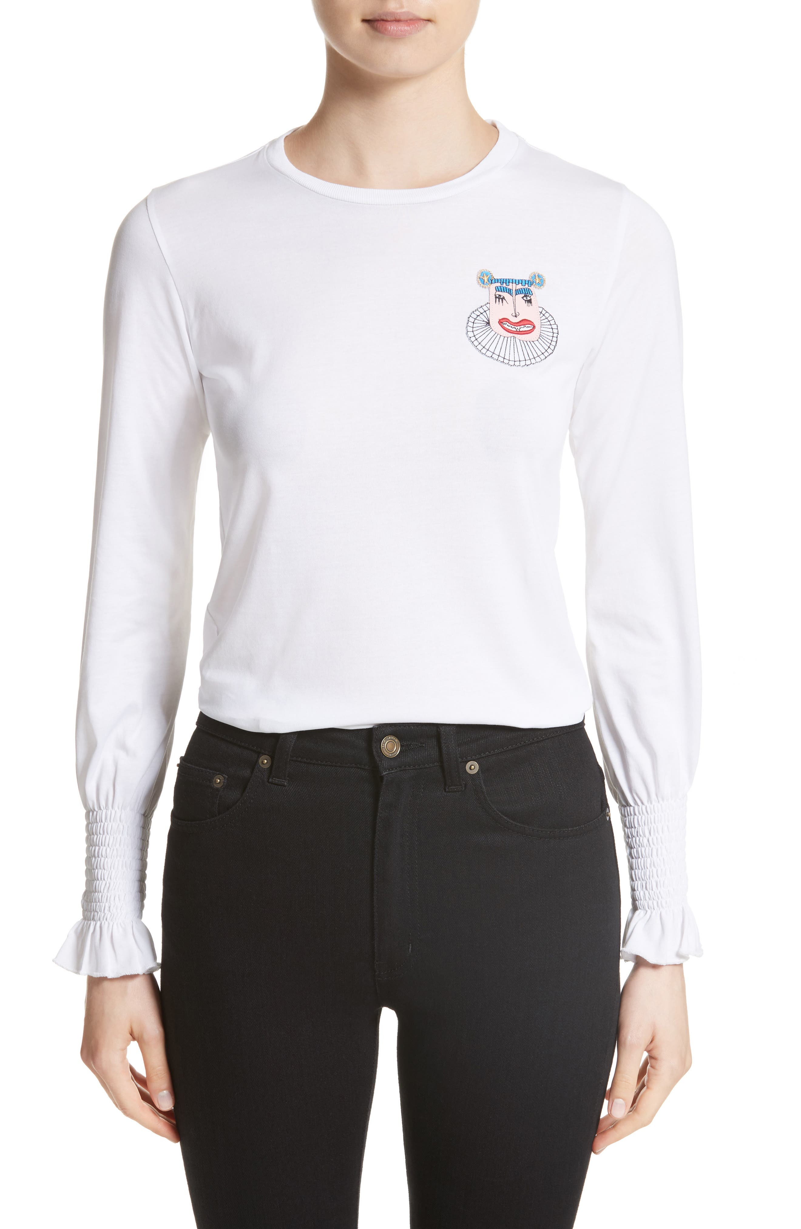 Shrimps Maxwell Flare Cuff Jersey Top