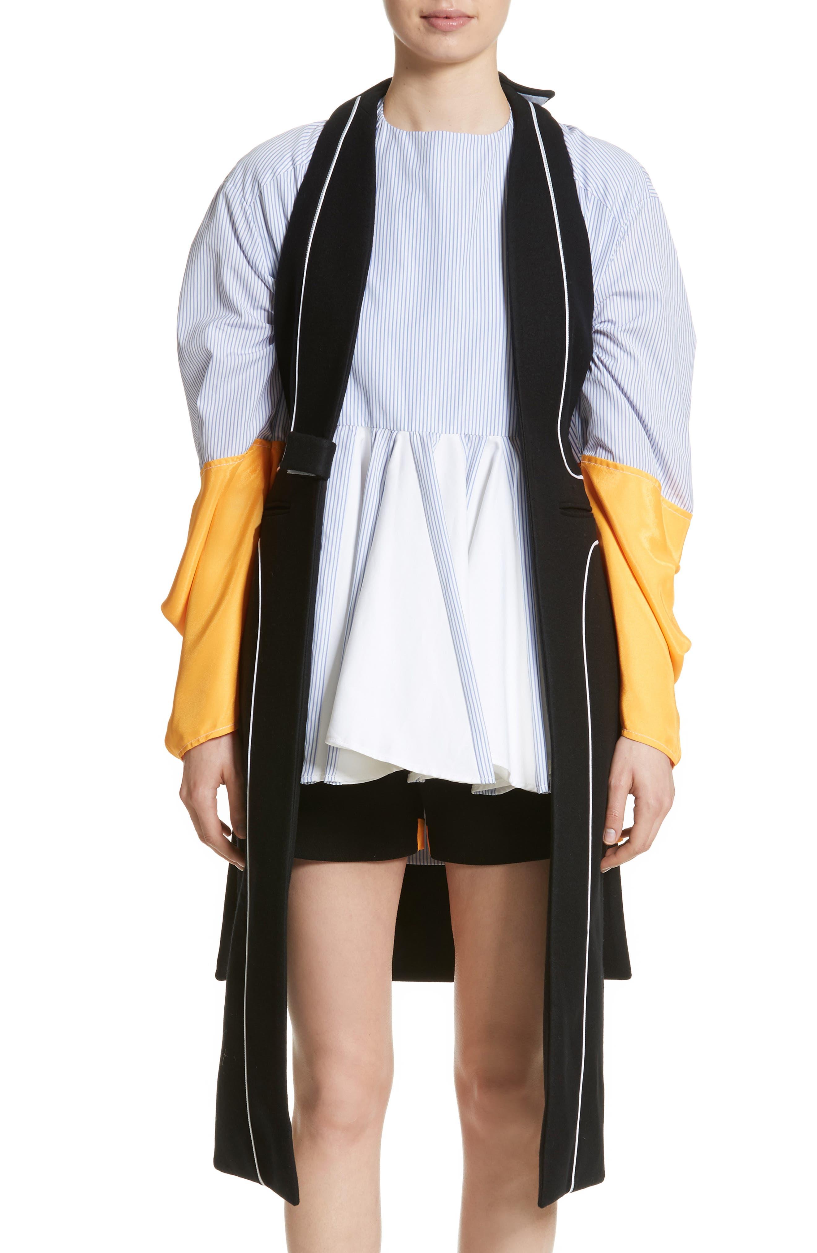 Wool Vest,                         Main,                         color, Black