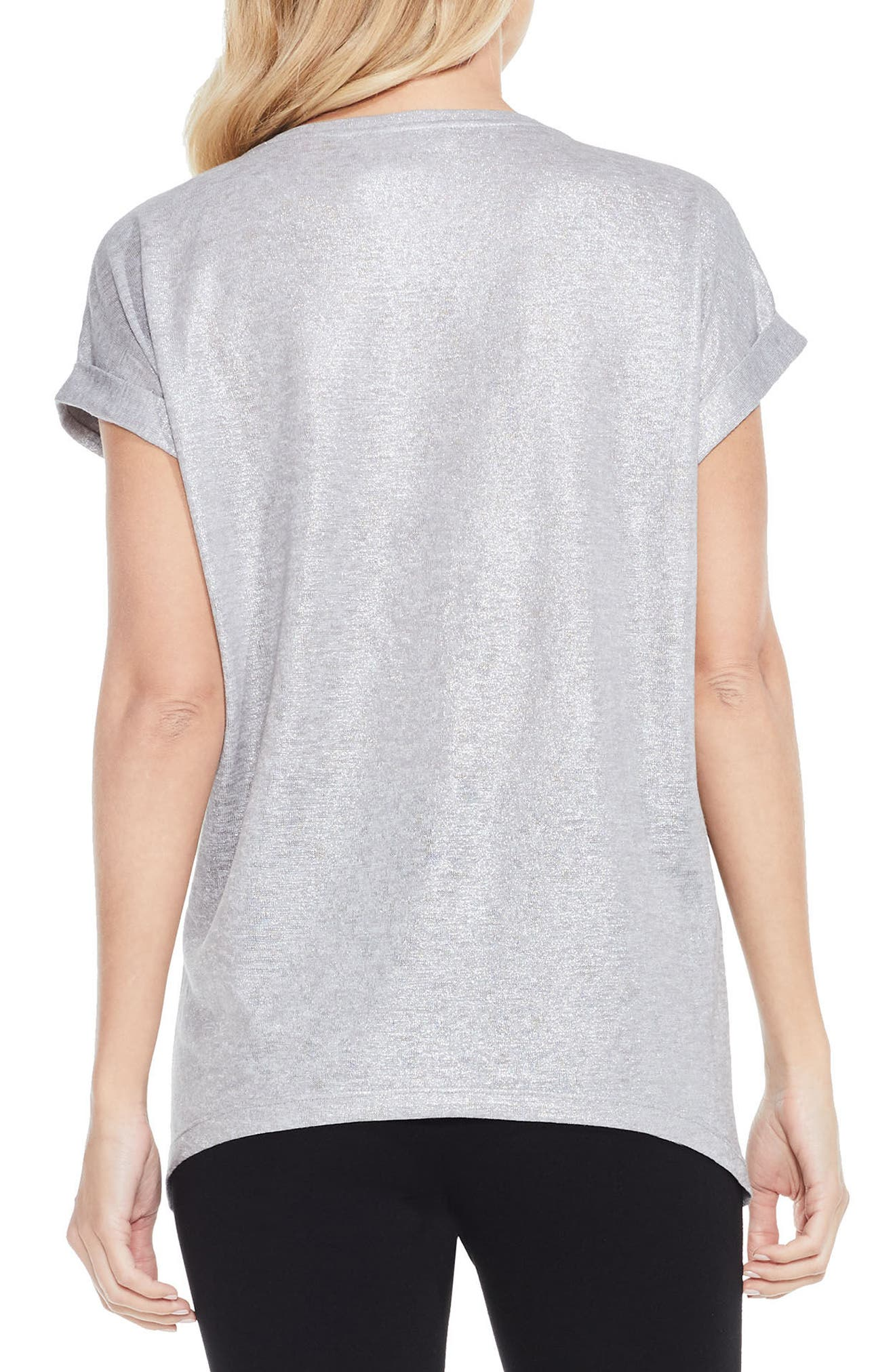 Alternate Image 2  - Two by Vince Camuto Foiled Knit Tee