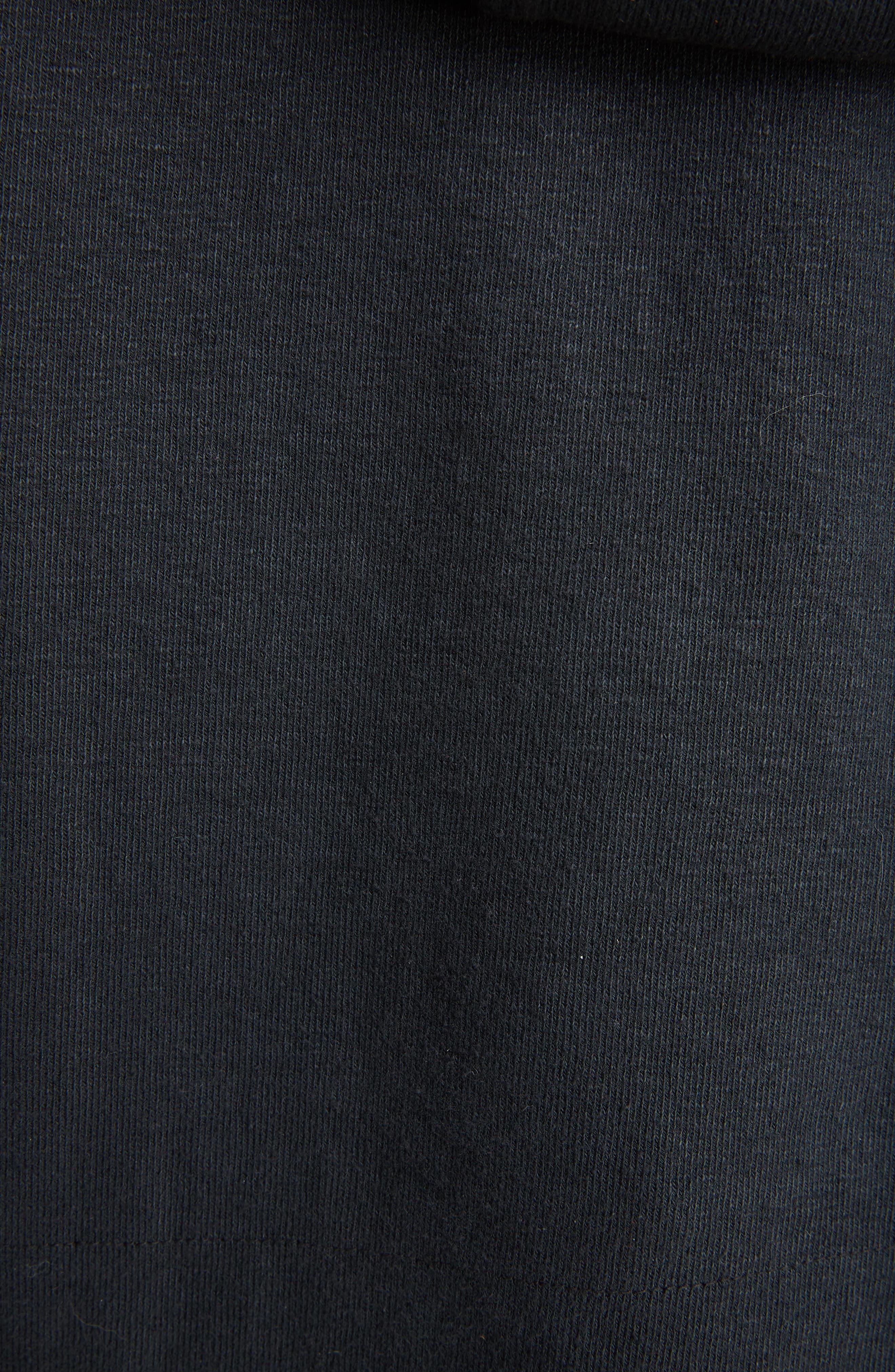 J.W.ANDERSON Oversized Crop Hoodie,                             Alternate thumbnail 5, color,                             Black