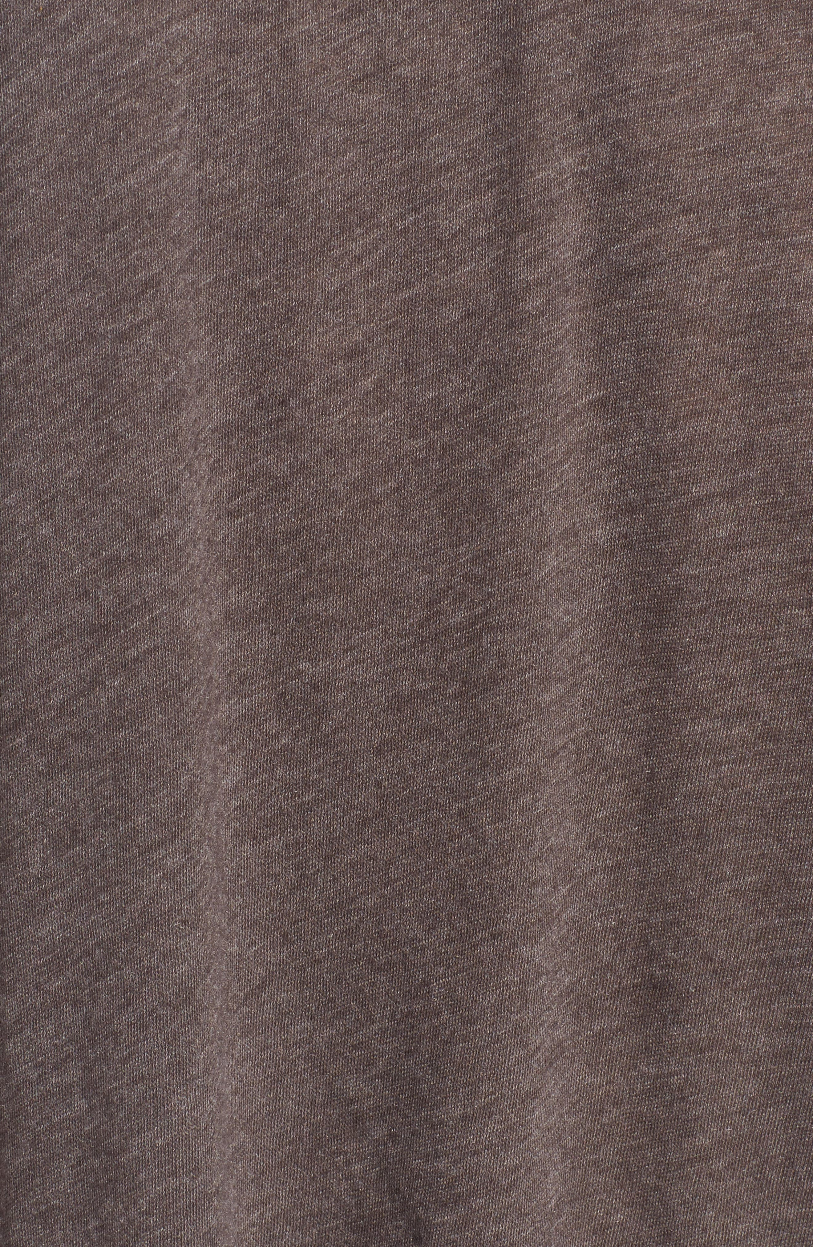 Coffee Destroyed Tee,                             Alternate thumbnail 5, color,                             Carbon Brown