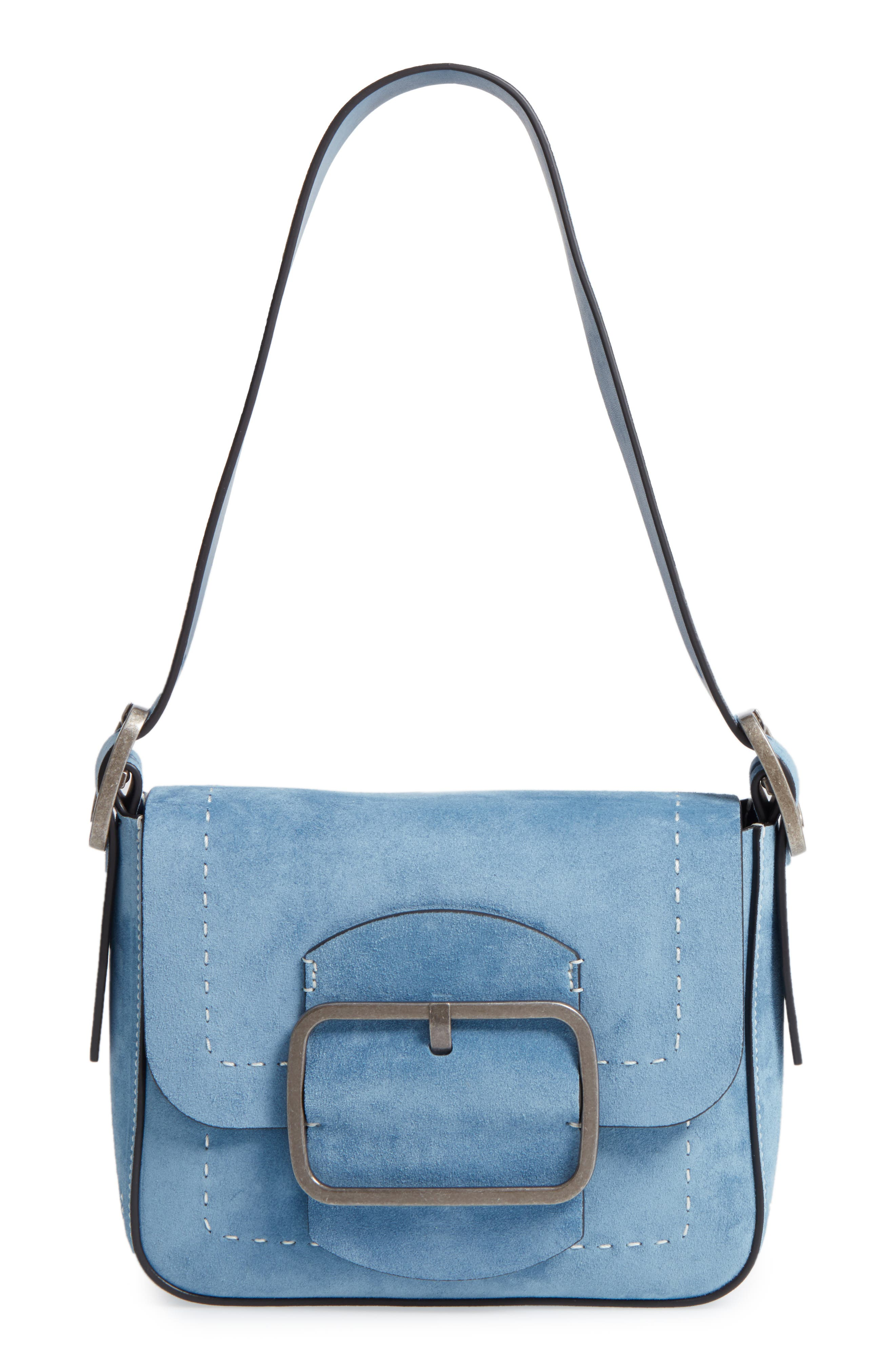 Main Image - Tory Burch Small Sawyer Suede Shoulder Bag