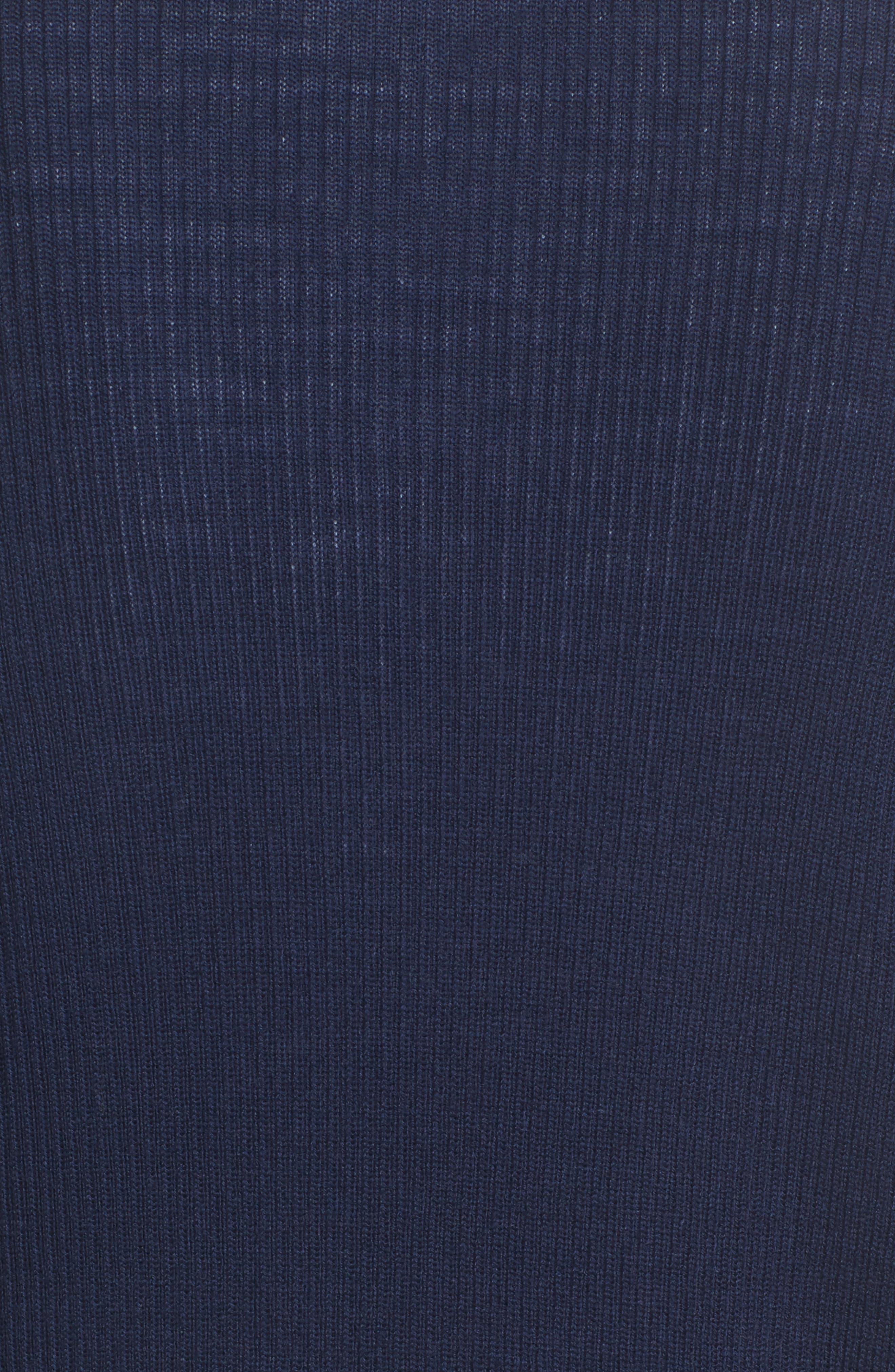 Alternate Image 5  - Halogen® Rib Knit Wool Blend Cardigan (Regular & Petite)