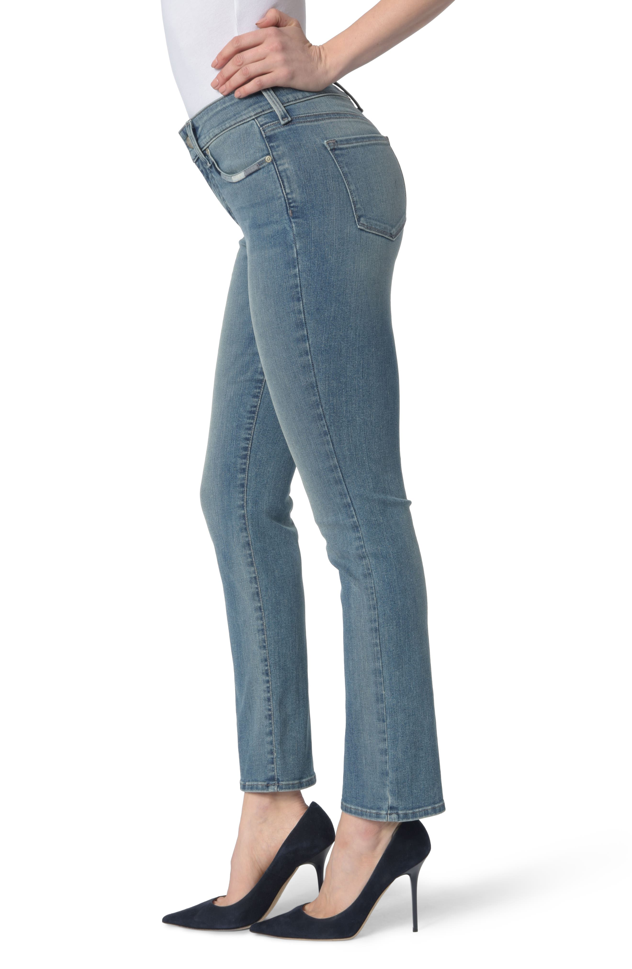Alternate Image 3  - NYDJ Marilyn Stretch Straight Leg Jeans (Pacific)
