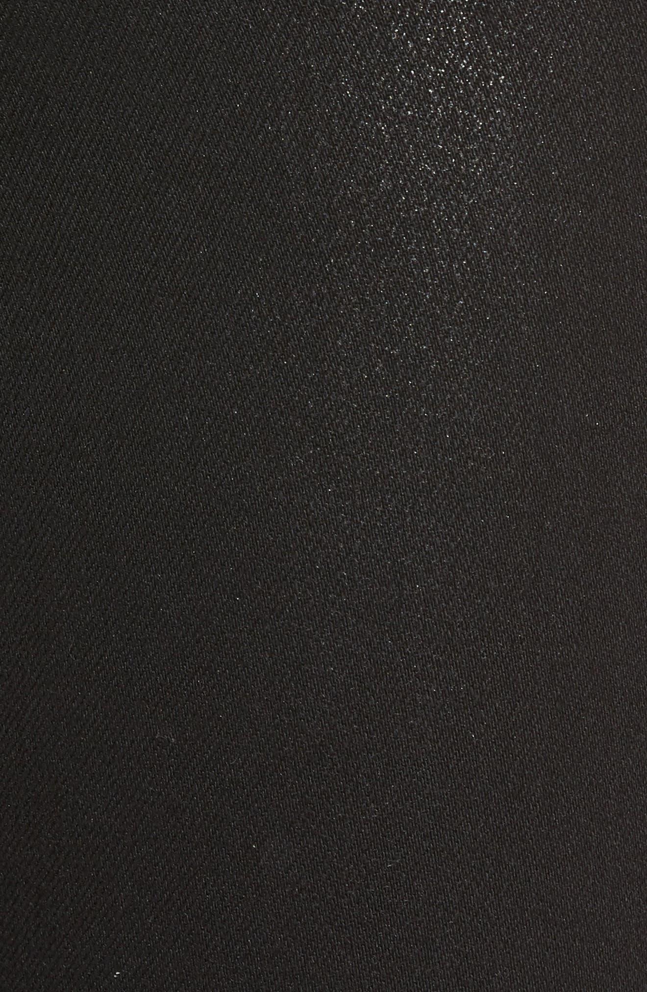 Kooper Coated Skinny Jeans,                             Alternate thumbnail 5, color,                             Black Coated
