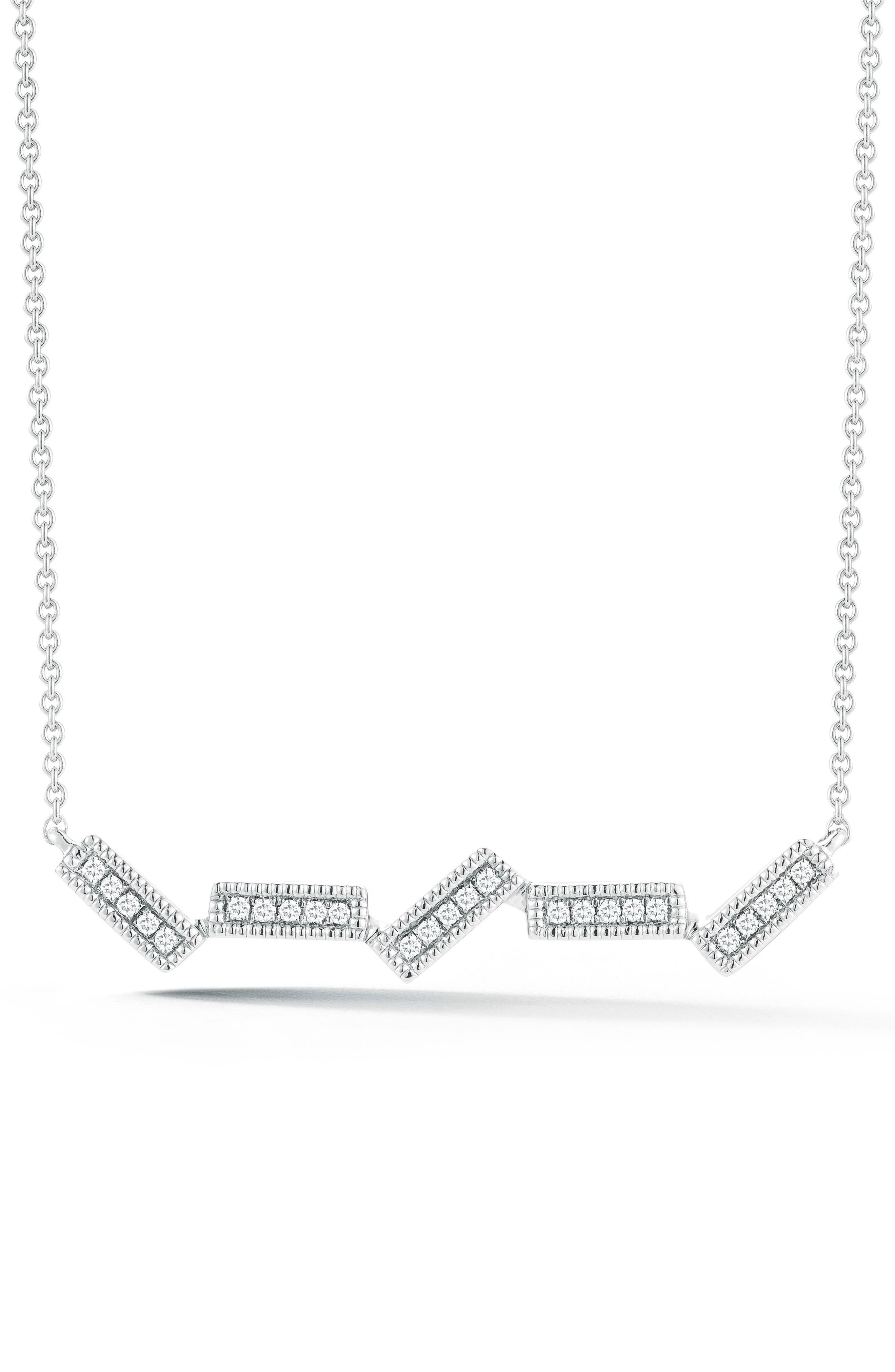 Main Image - Dana Rebecca Designs Sylvie Rose Five-Bar Diamond Pendant Necklace