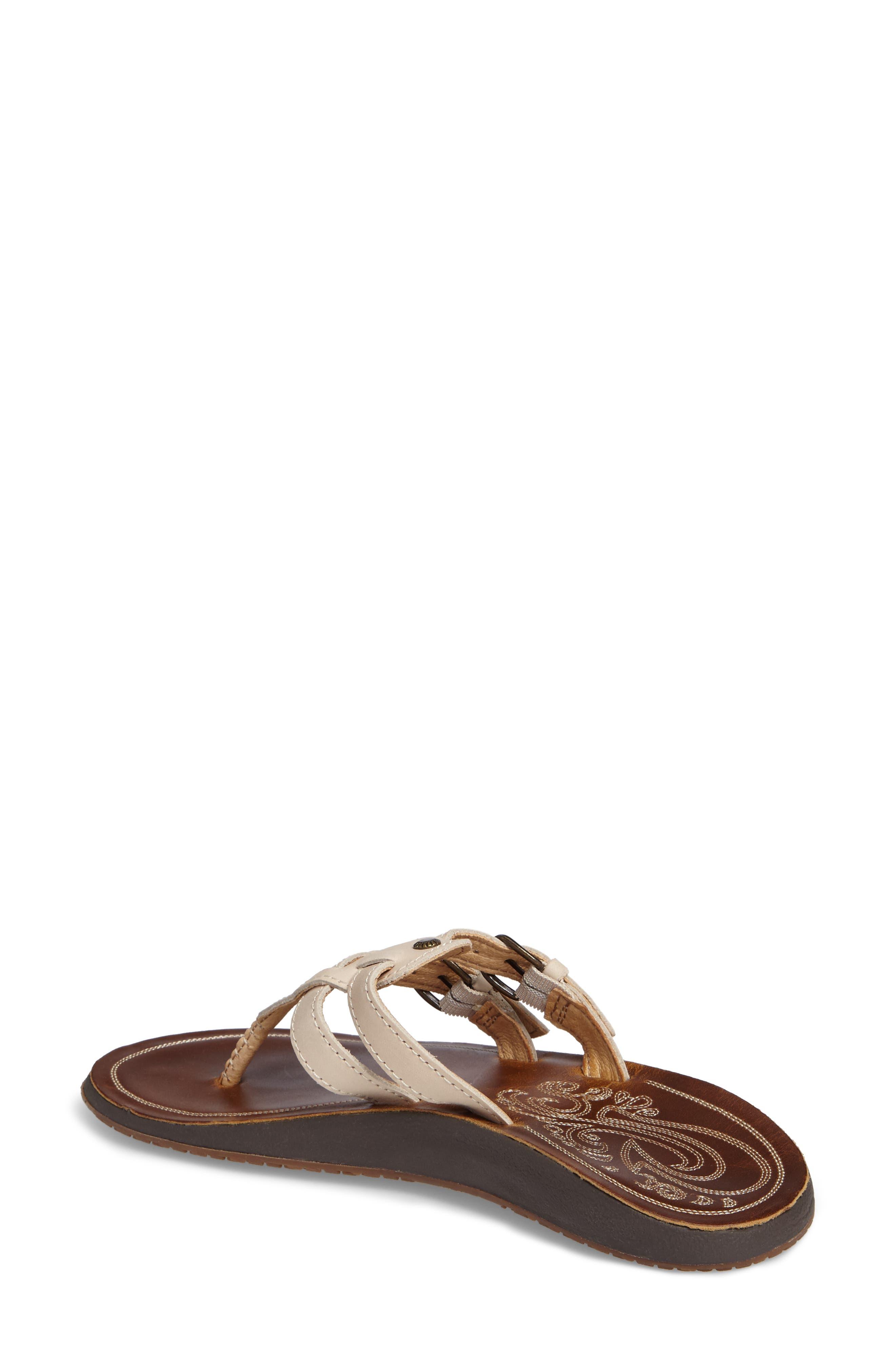 Honoka'a Buckle Flip Flop,                             Alternate thumbnail 2, color,                             Tapa/ Sahara Leather