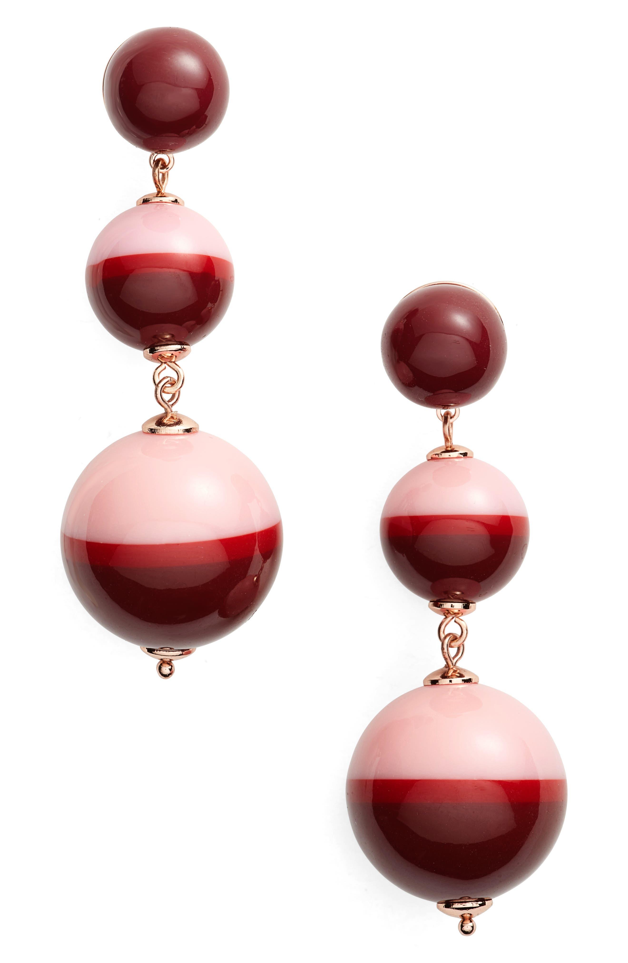 in a flash drop earrings,                             Main thumbnail 1, color,                             Berry Multi