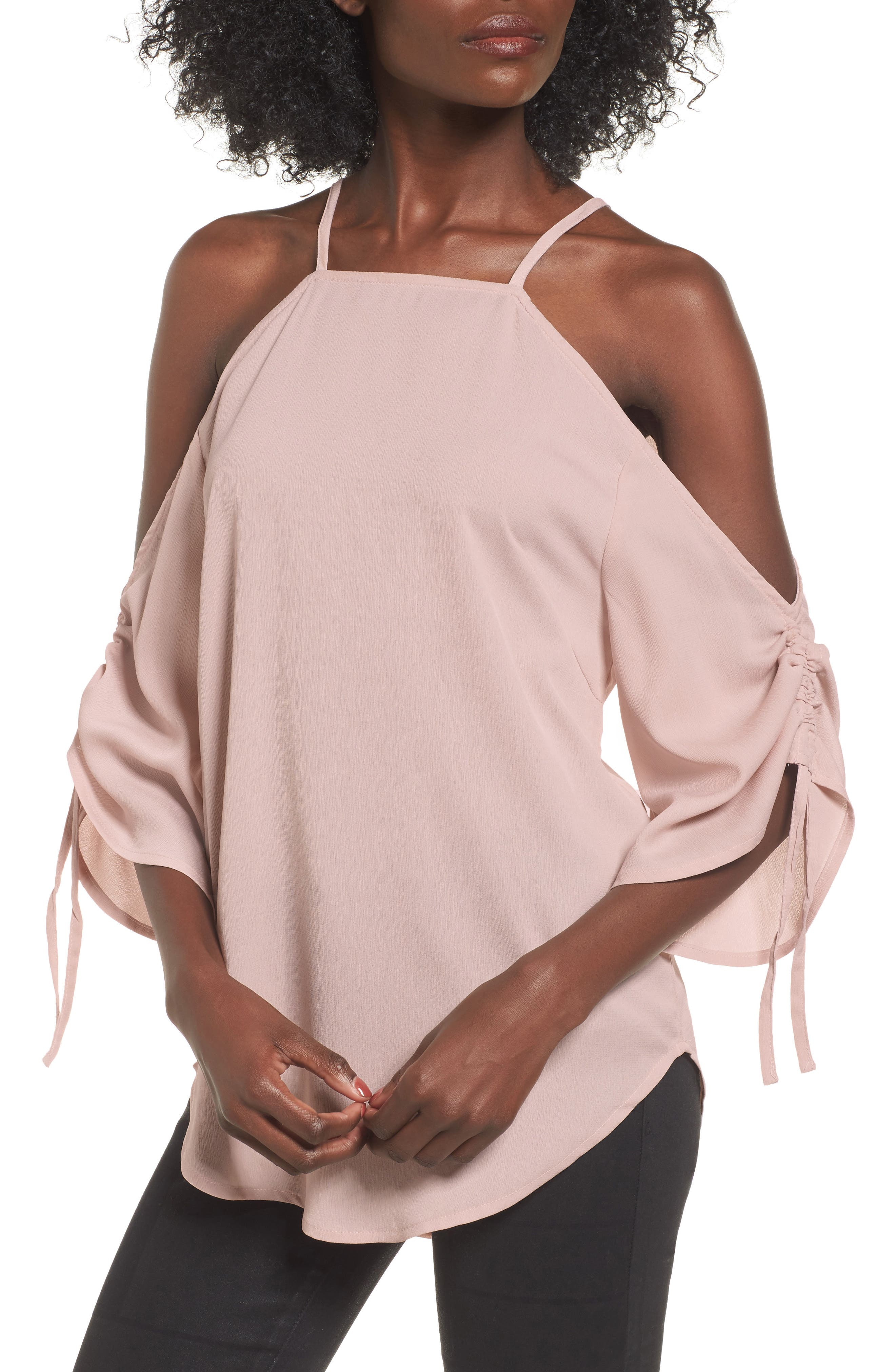 The Fifth Label The Future Dream Ruched Cold Shoulder Top