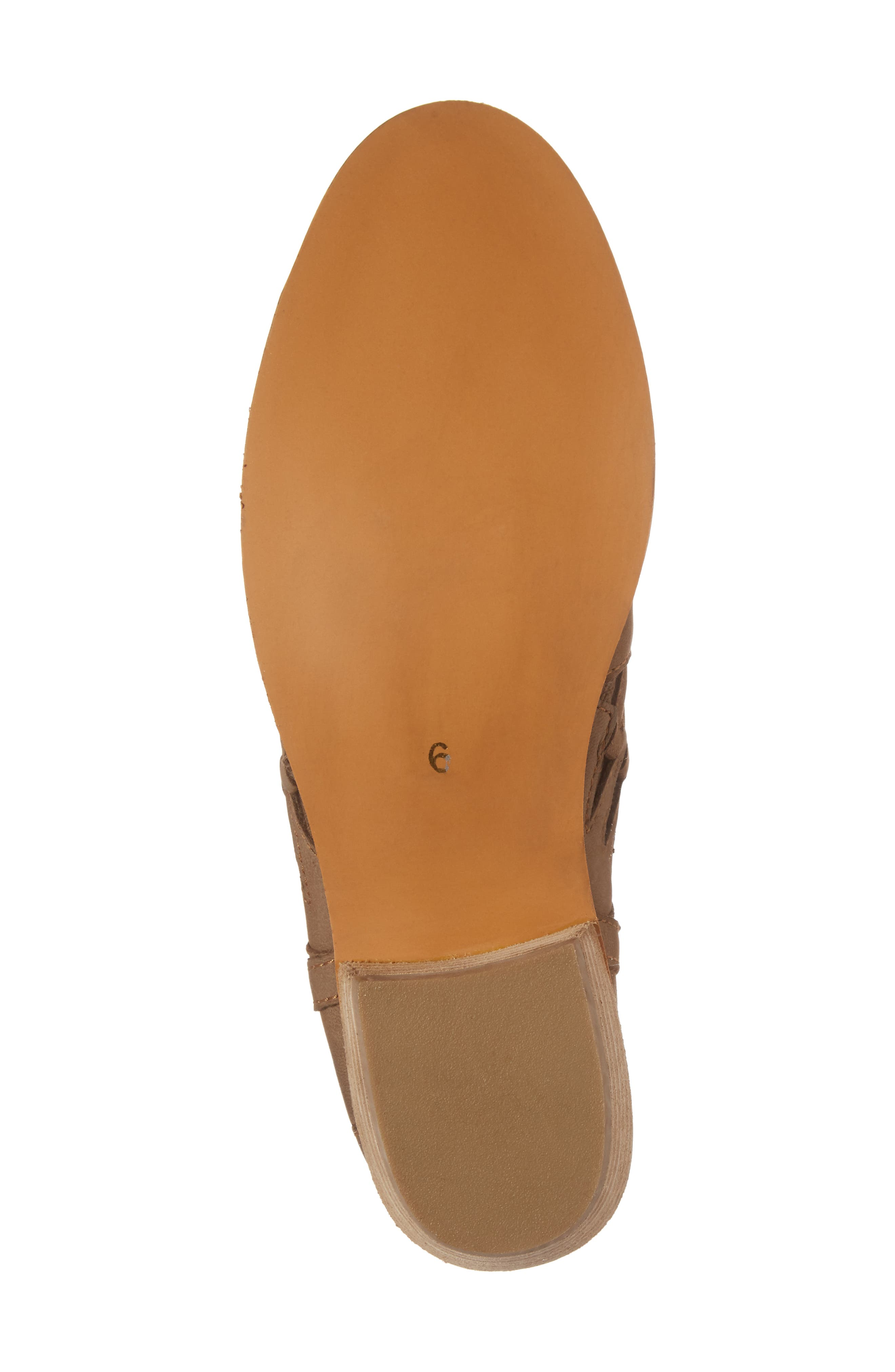 Yuma Bootie,                             Alternate thumbnail 6, color,                             Cognac Washed Nubuck Leather