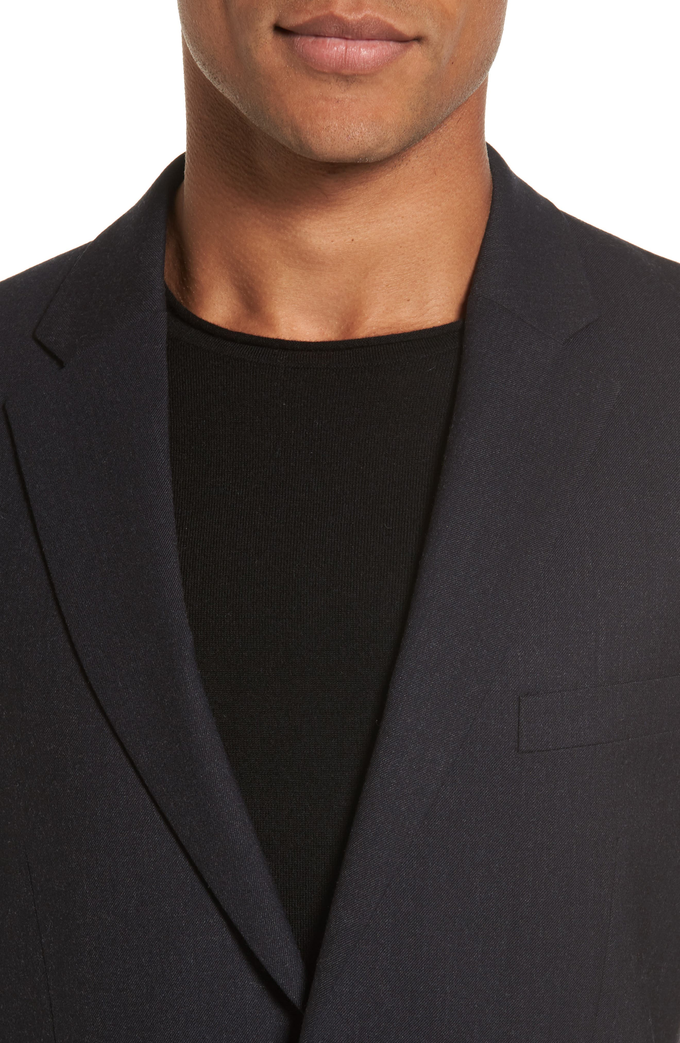 Regular Fit Blazer,                             Alternate thumbnail 4, color,                             Charcoal