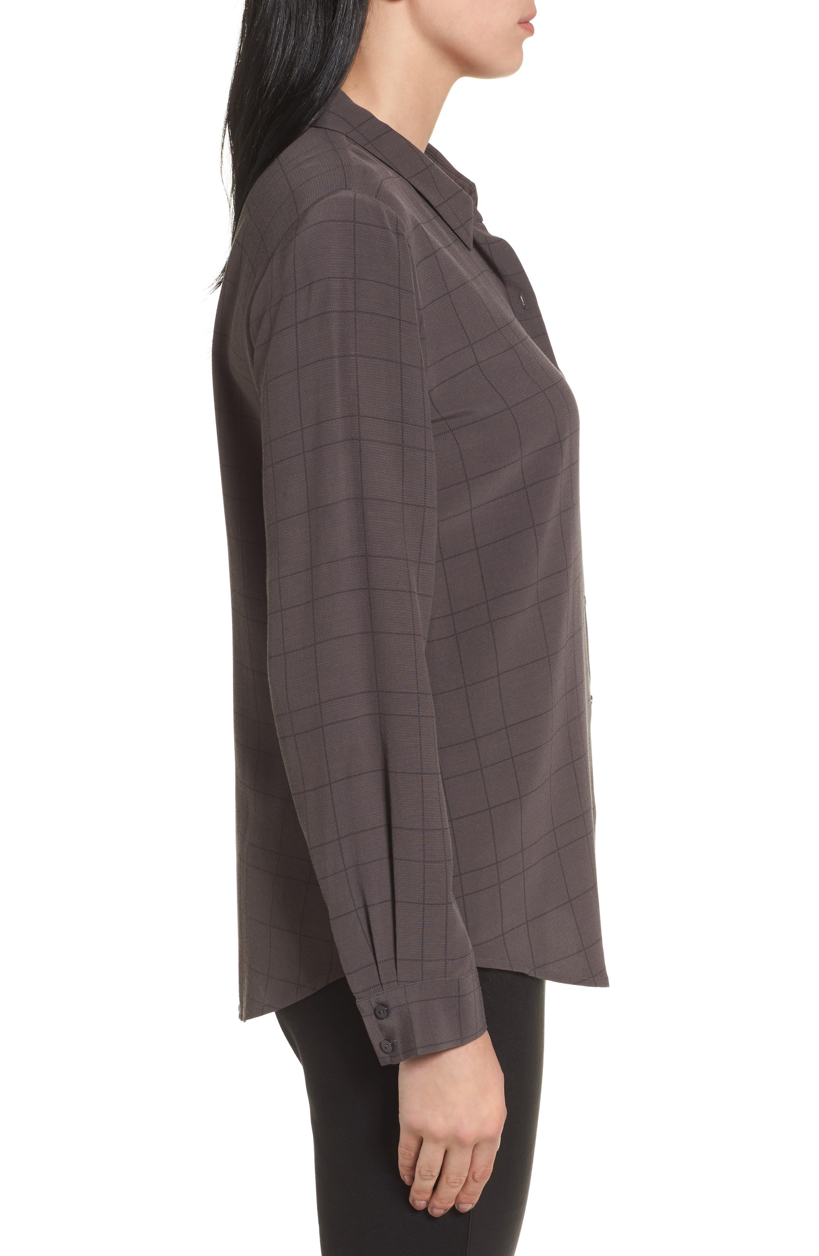 Alternate Image 3  - Eileen Fisher Windowpane Classic Collar Shirt