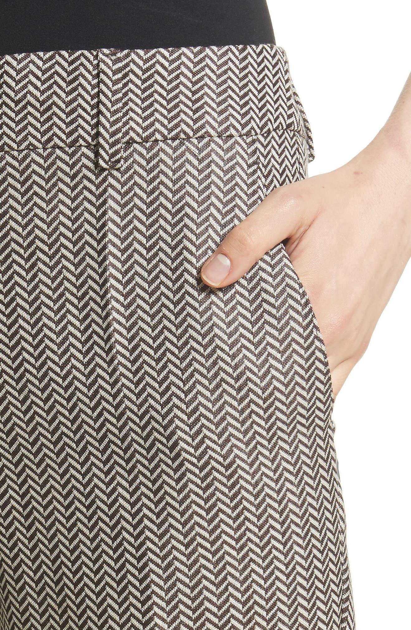 Alternate Image 5  - Armani Collezioni Herringbone Slim Pants