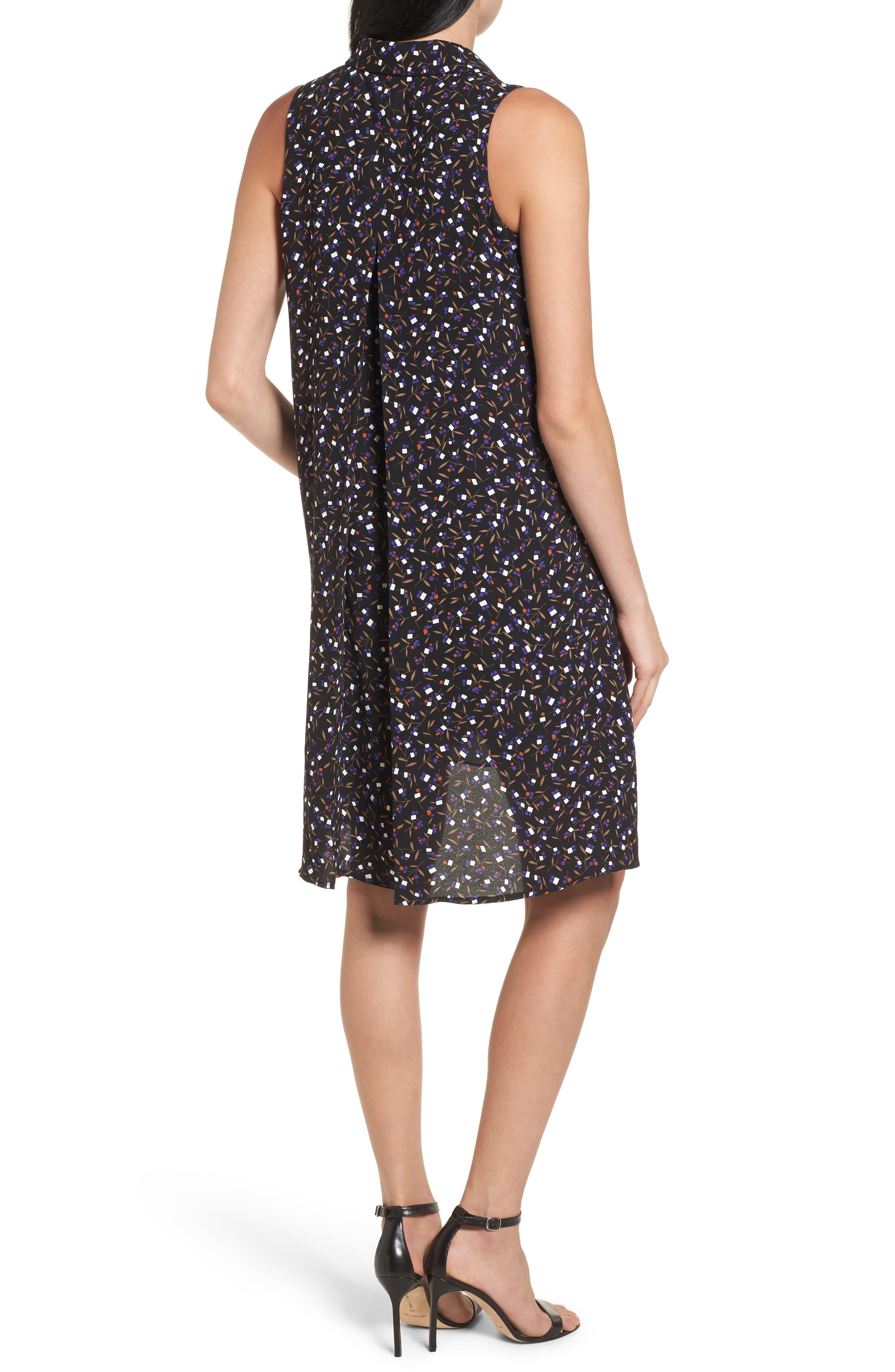 Polo Dress,                             Alternate thumbnail 2, color,                             Black/ Mushroom Combo