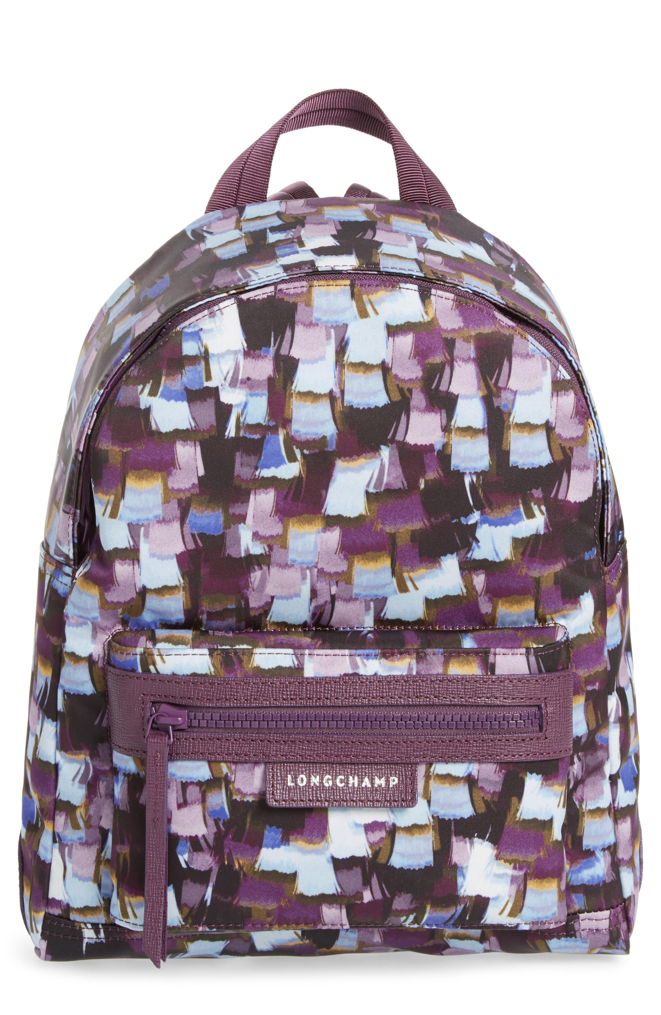 Le Pliage Neo - Vibrations Nylon Backpack,                             Main thumbnail 1, color,                             Deep Purple