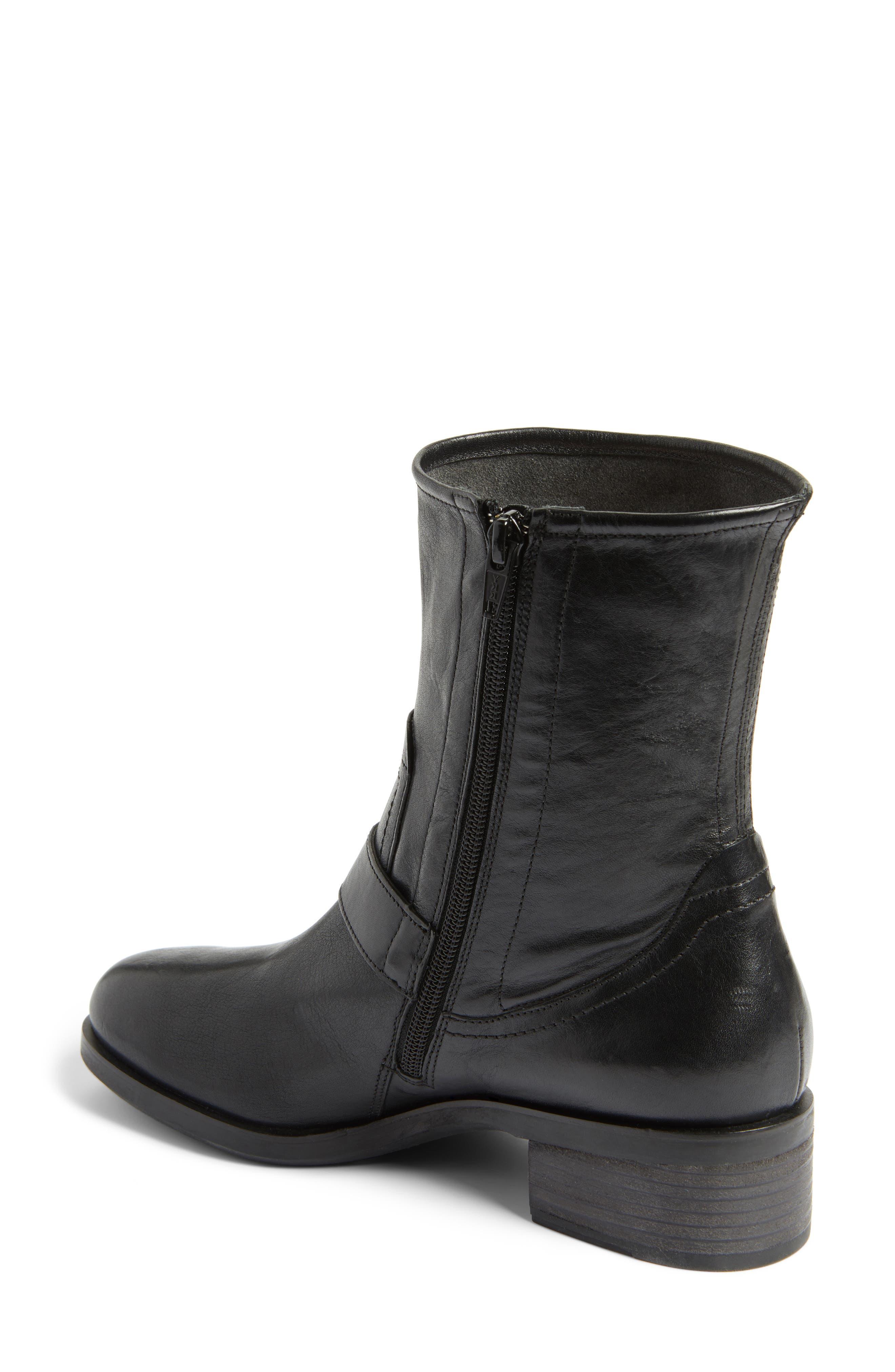 Nixon Moto Boot,                             Alternate thumbnail 2, color,                             Black Leather