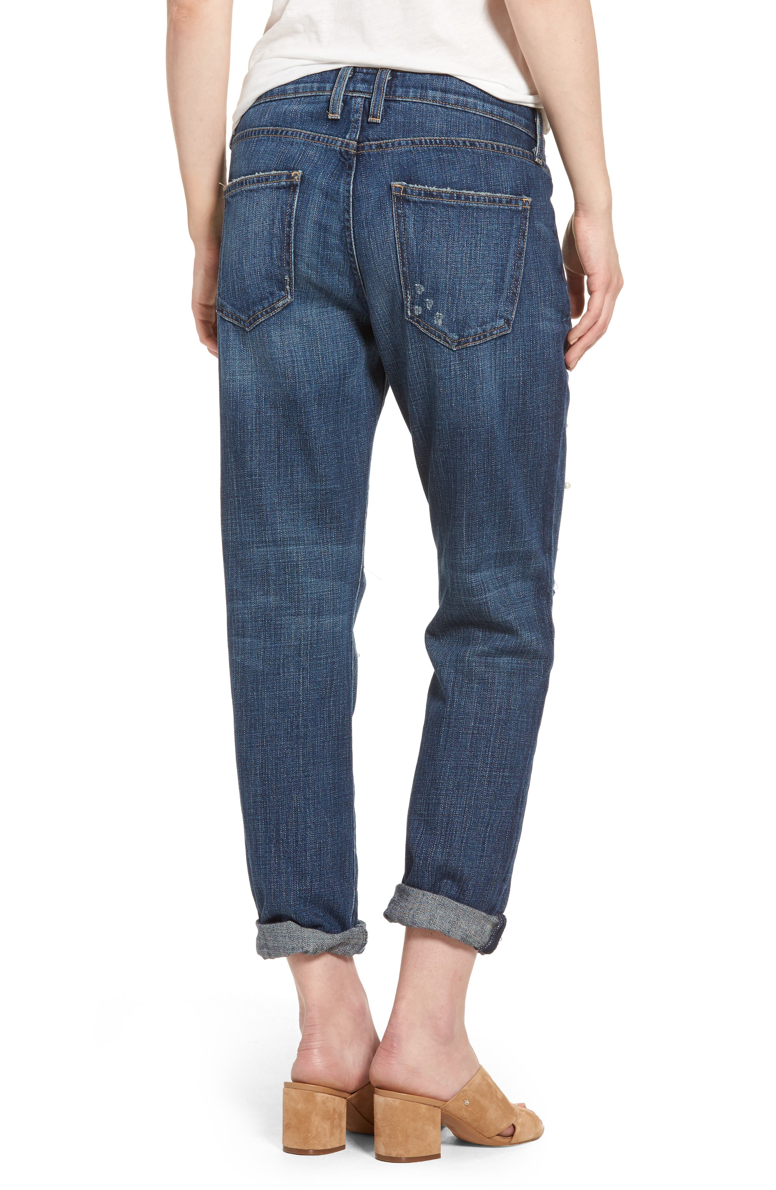 Alternate Image 2  - Current/Elliott 'The Fling' Boyfriend Jeans (Loved)