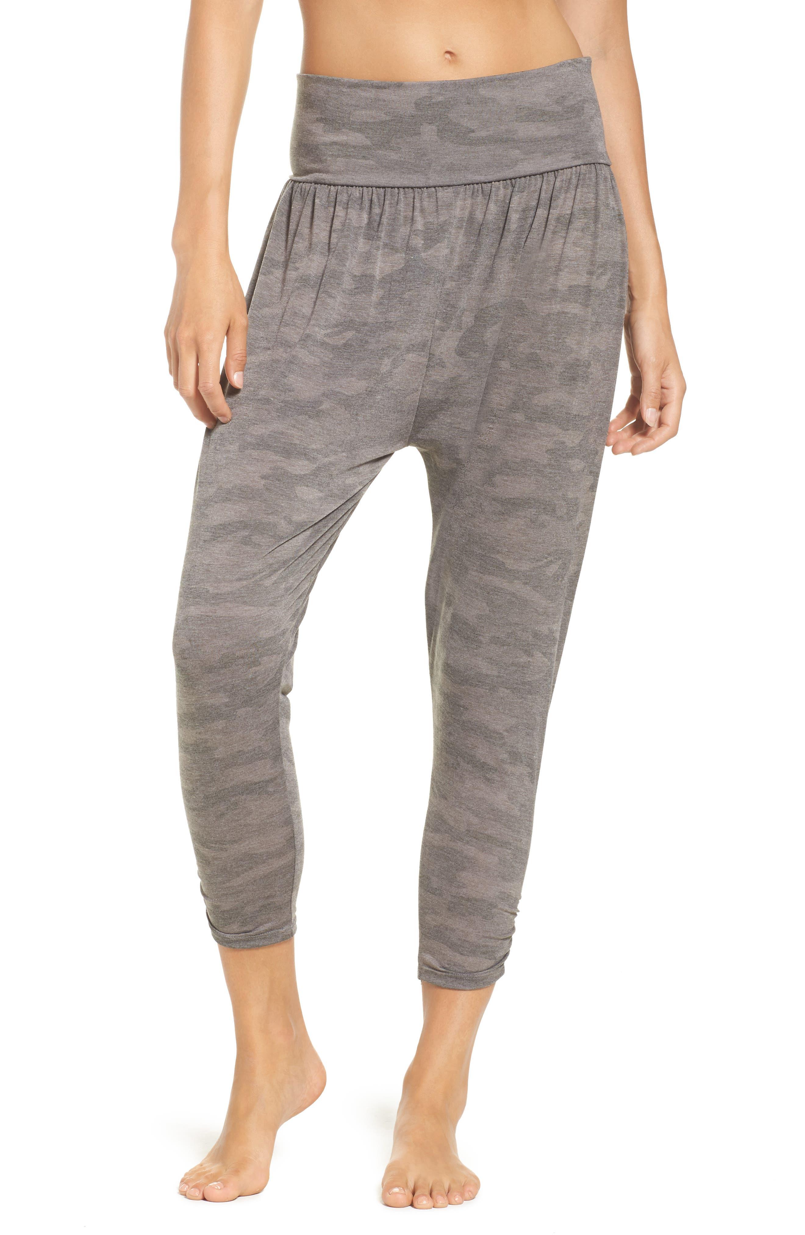 Harem Pants,                         Main,                         color, Moss Camo
