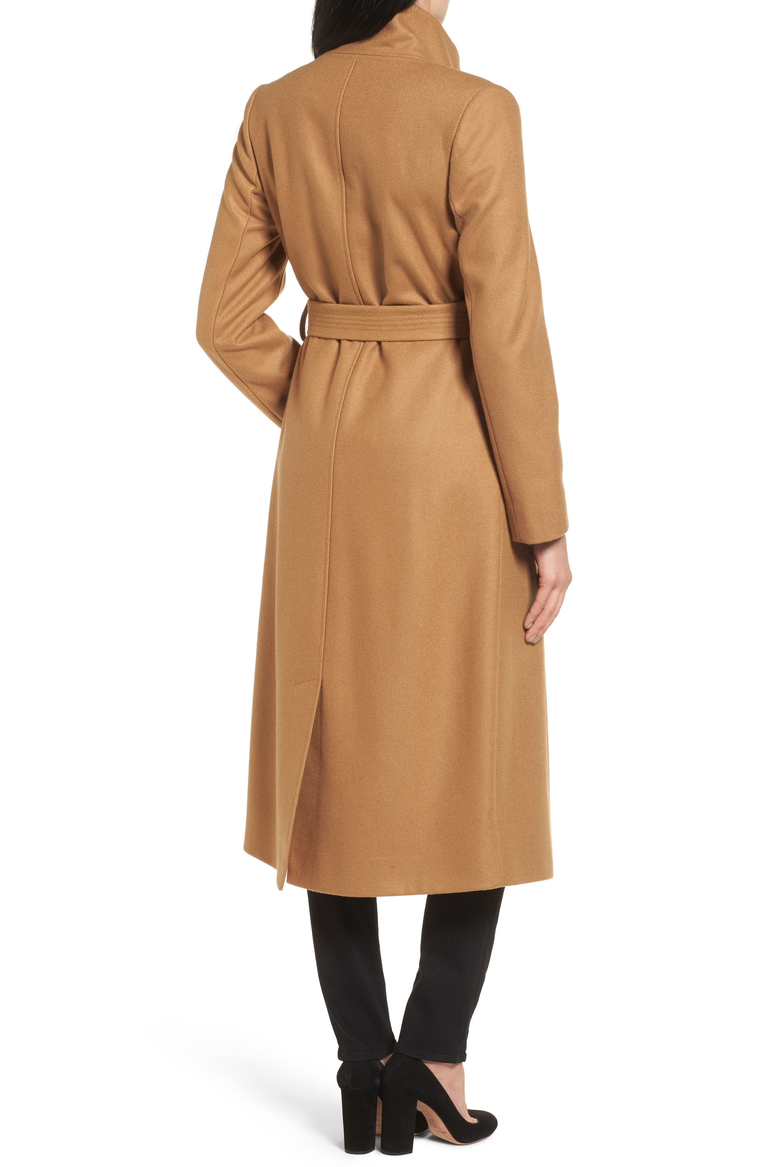 Alternate Image 2  - Kenneth Cole New York Wool Blend Maxi Wrap Coat
