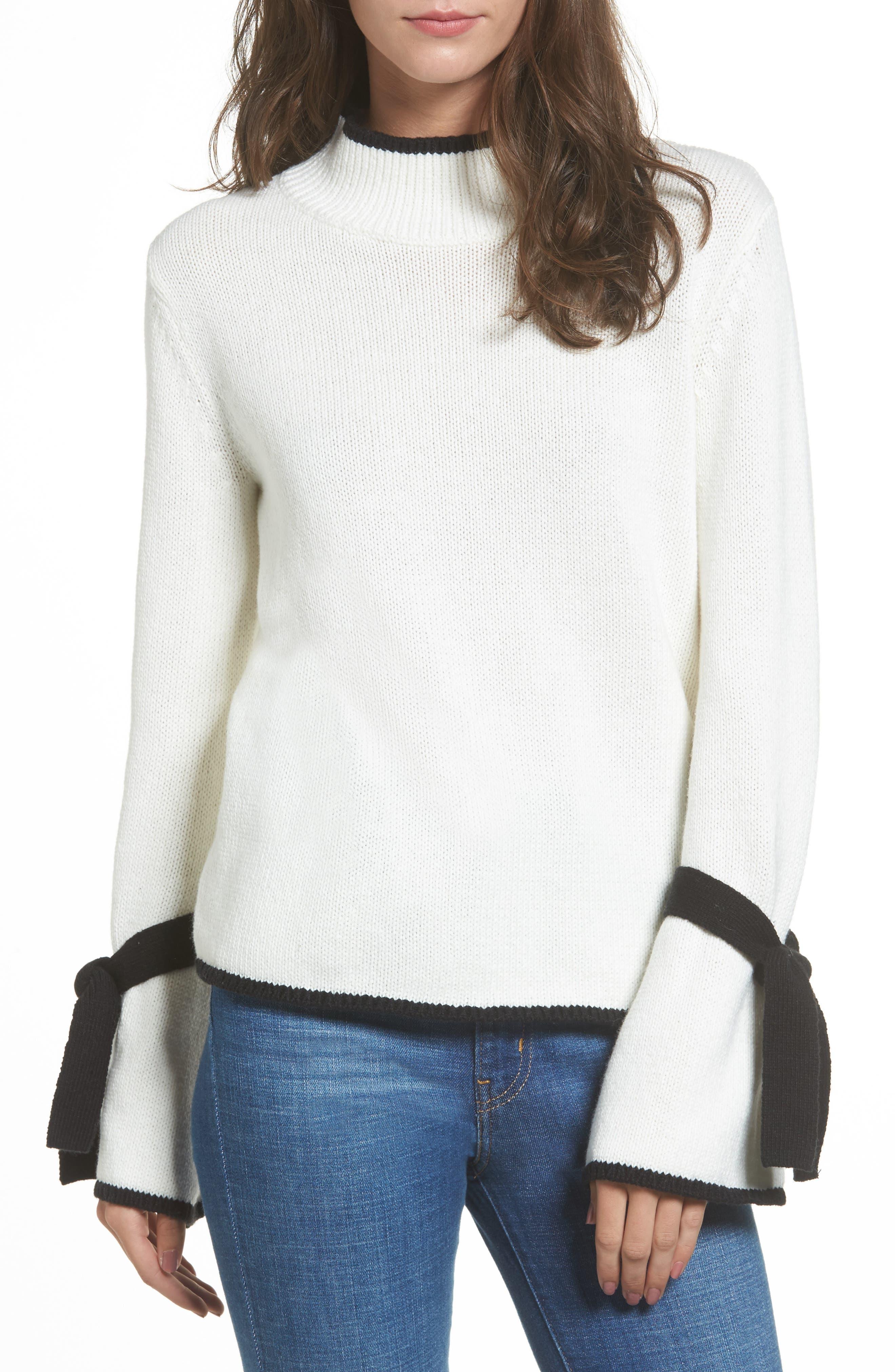 BP. Tie Sleeve Sweater