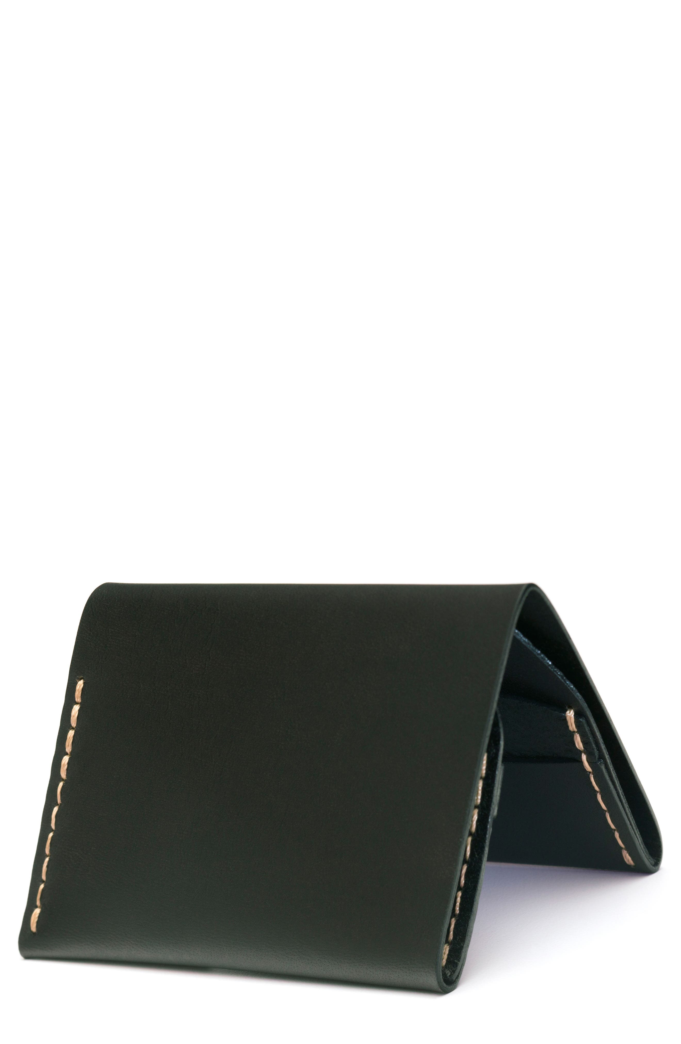 No. 4 Leather Wallet,                         Main,                         color, Green