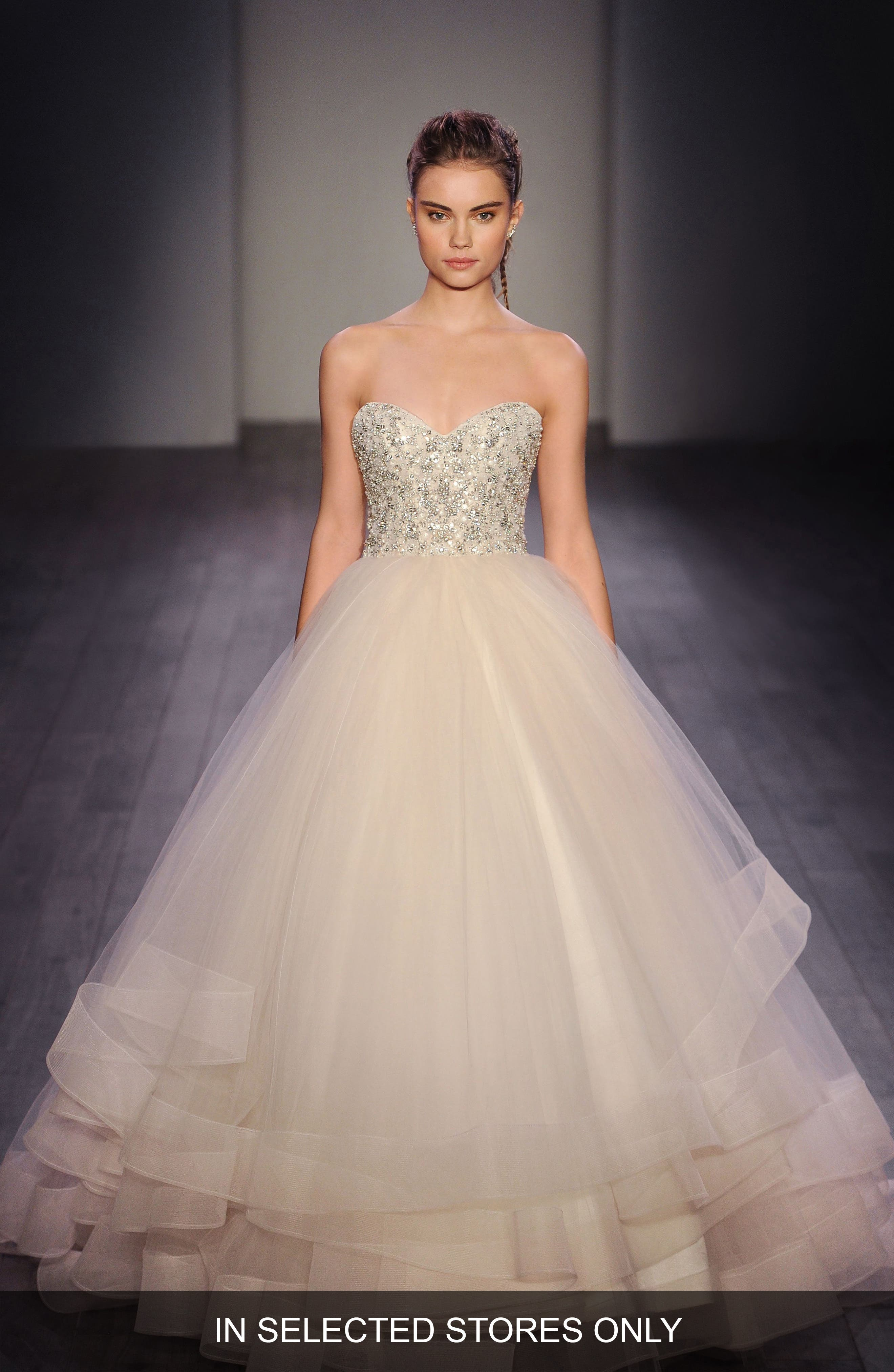 Lazaro Embellished Strapless Organza & Tulle Ballgown (In Stores Only)