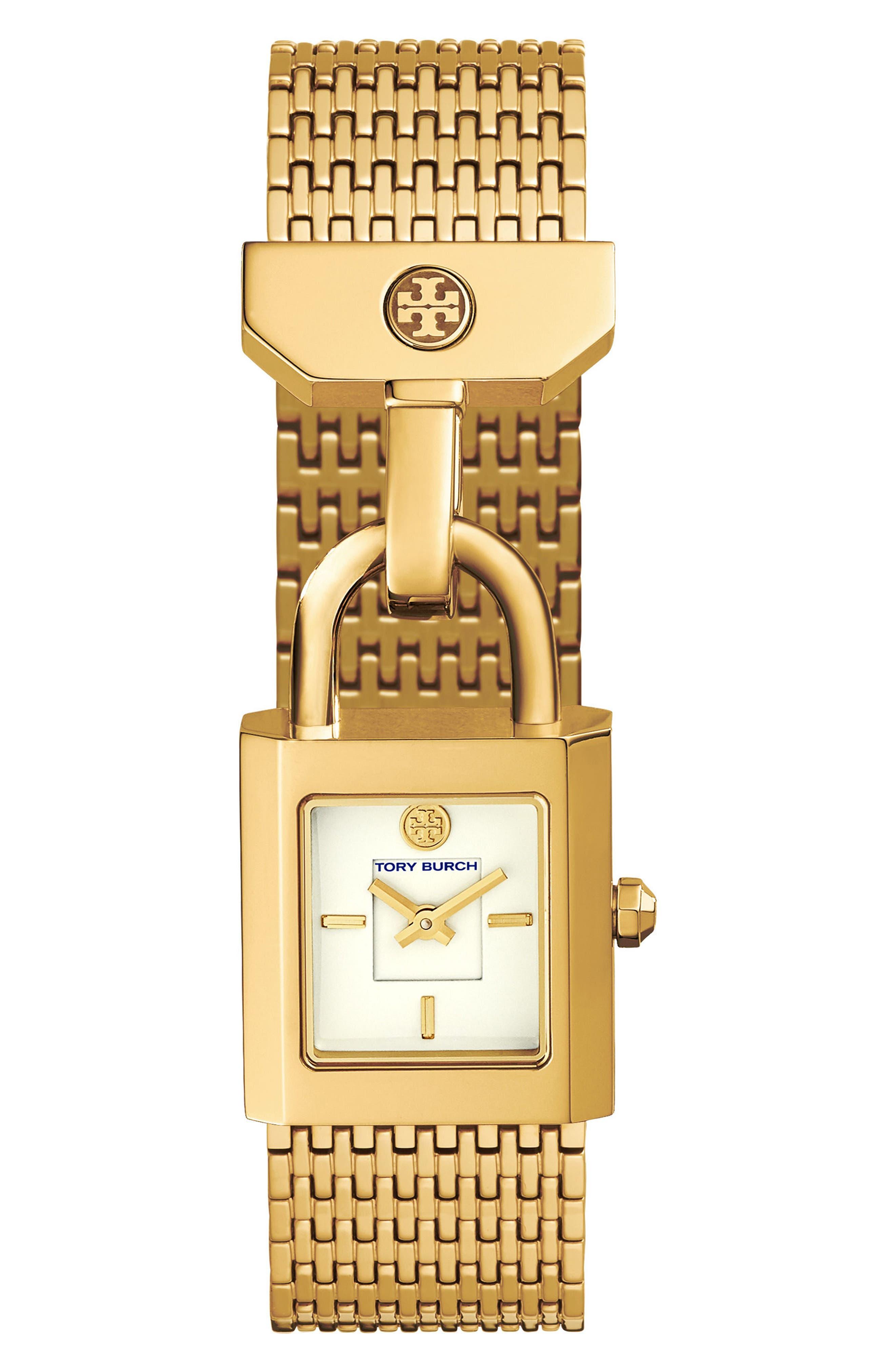 Alternate Image 1 Selected - Tory Burch Surrey Mesh Bracelet Watch, 22mm x 23.5mm