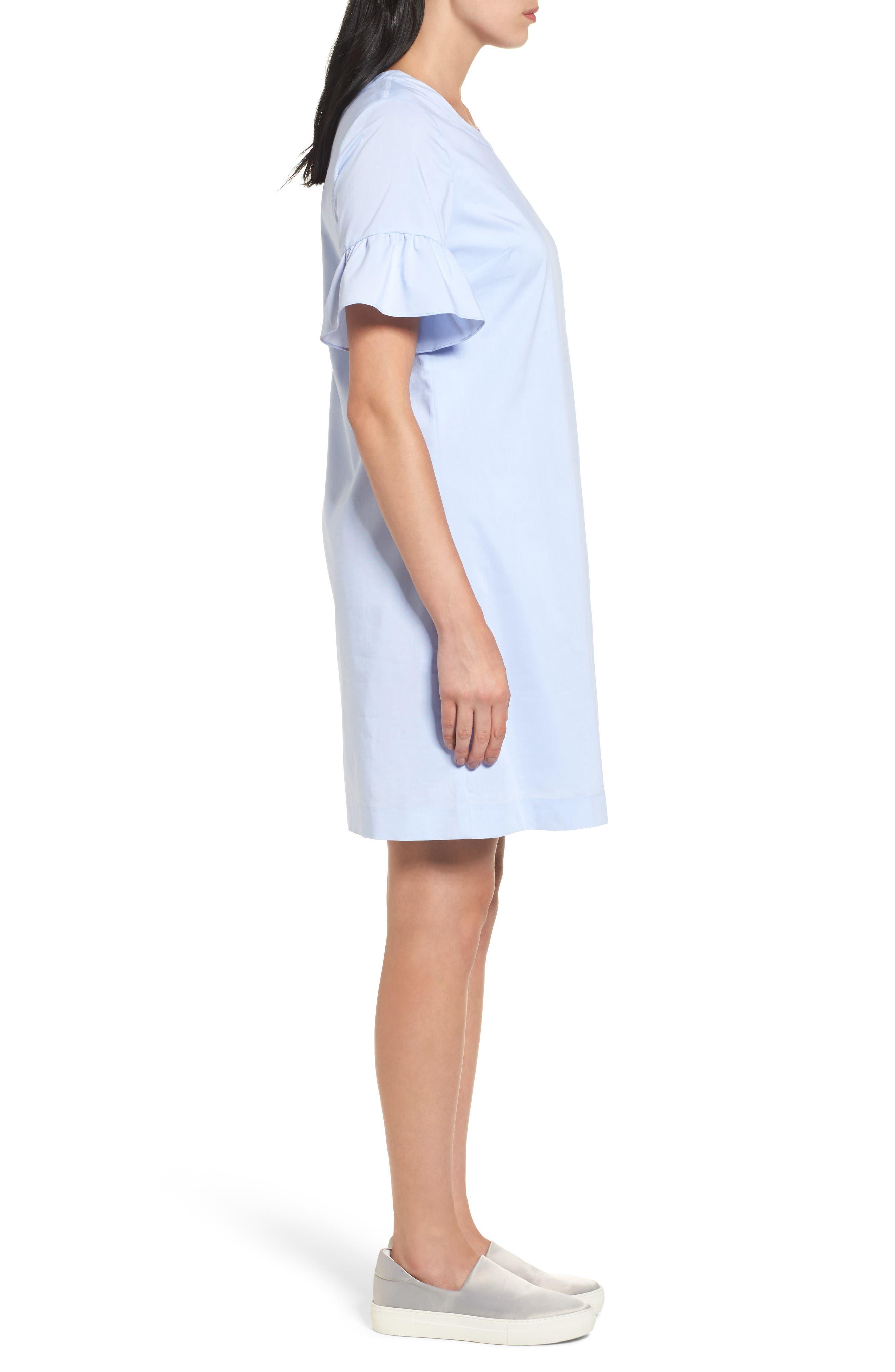 Alternate Image 3  - Halogen® Tie Back Ruffle Sleeve Dress (Regular & Petite)