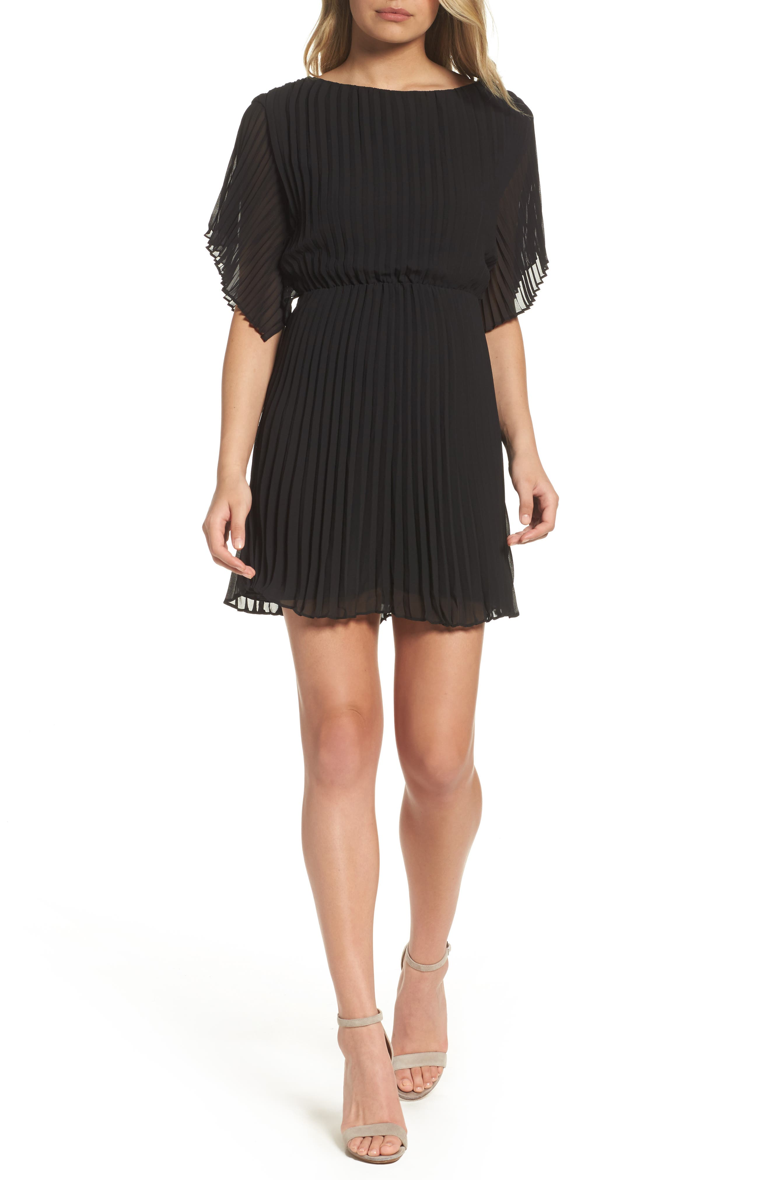 Ali & Jay Pleated Georgette Minidress