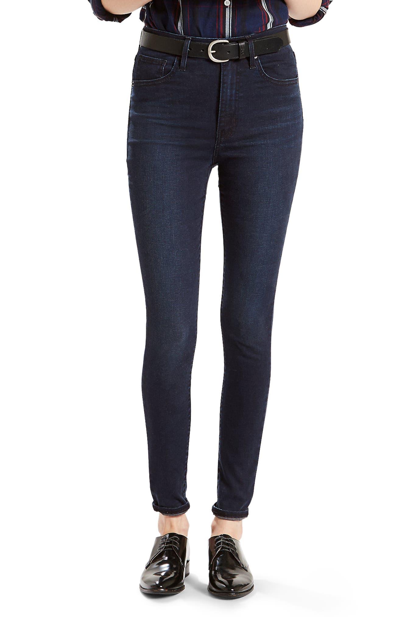Mile High High Waist Super Skinny Jeans,                         Main,                         color, Red Wonder