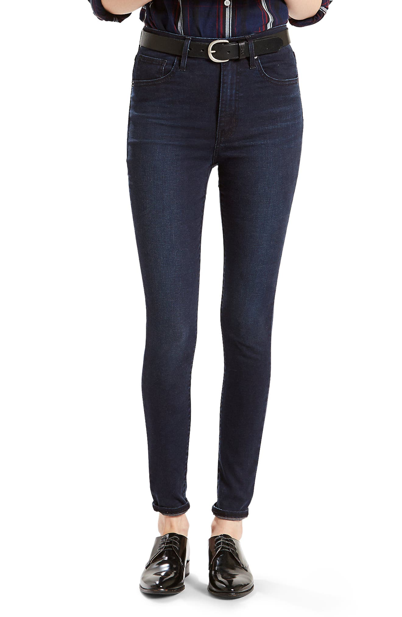 Levi's® Mile High High Waist Super Skinny Jeans (Red Wonder)