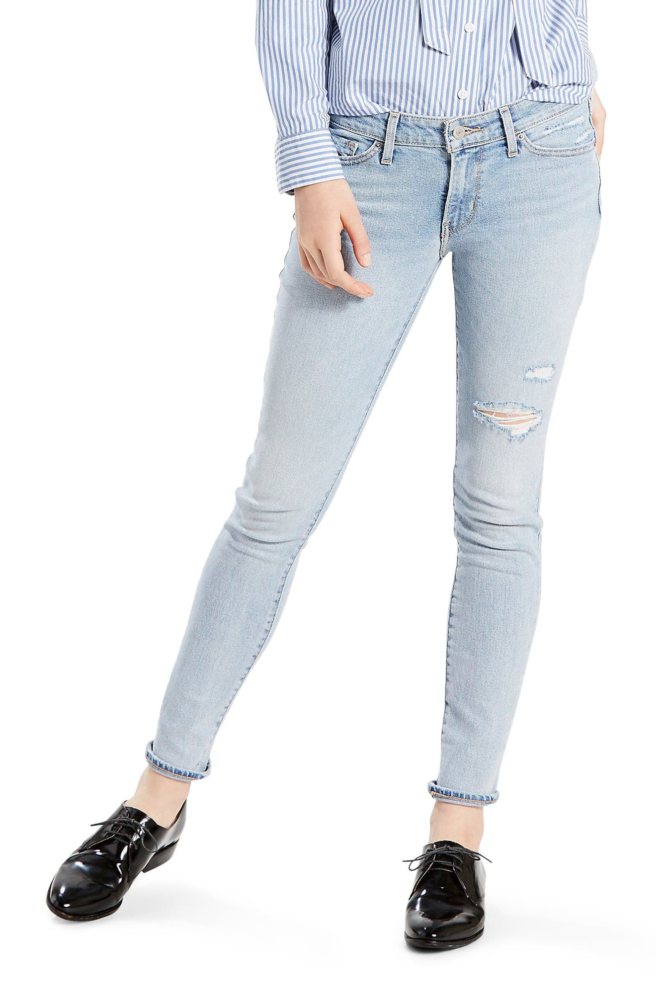 Alternate Image 1 Selected - Levi's® 711 Skinny Jeans (Let's Run Away)