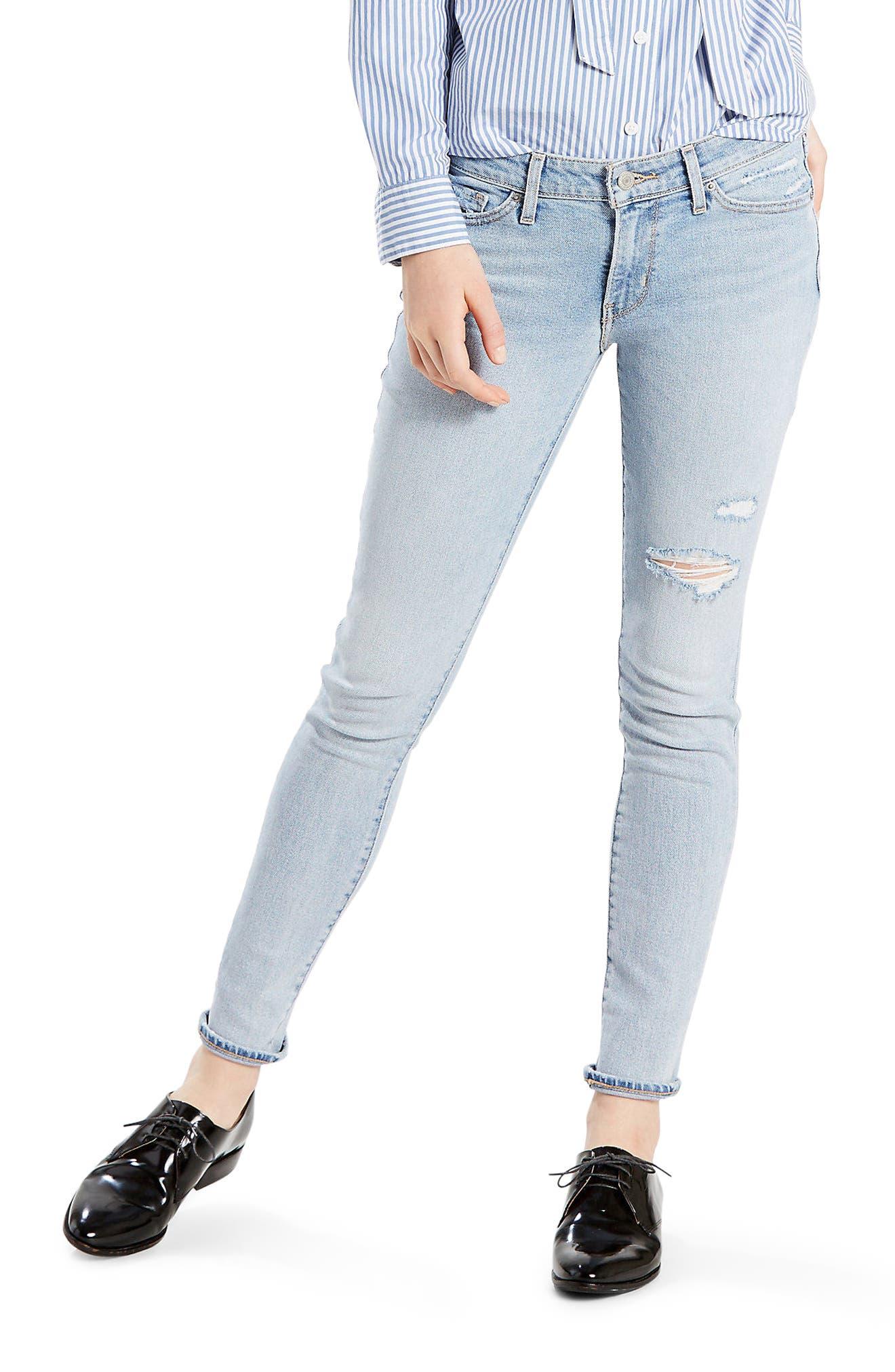 Main Image - Levi's® 711 Skinny Jeans (Let's Run Away)