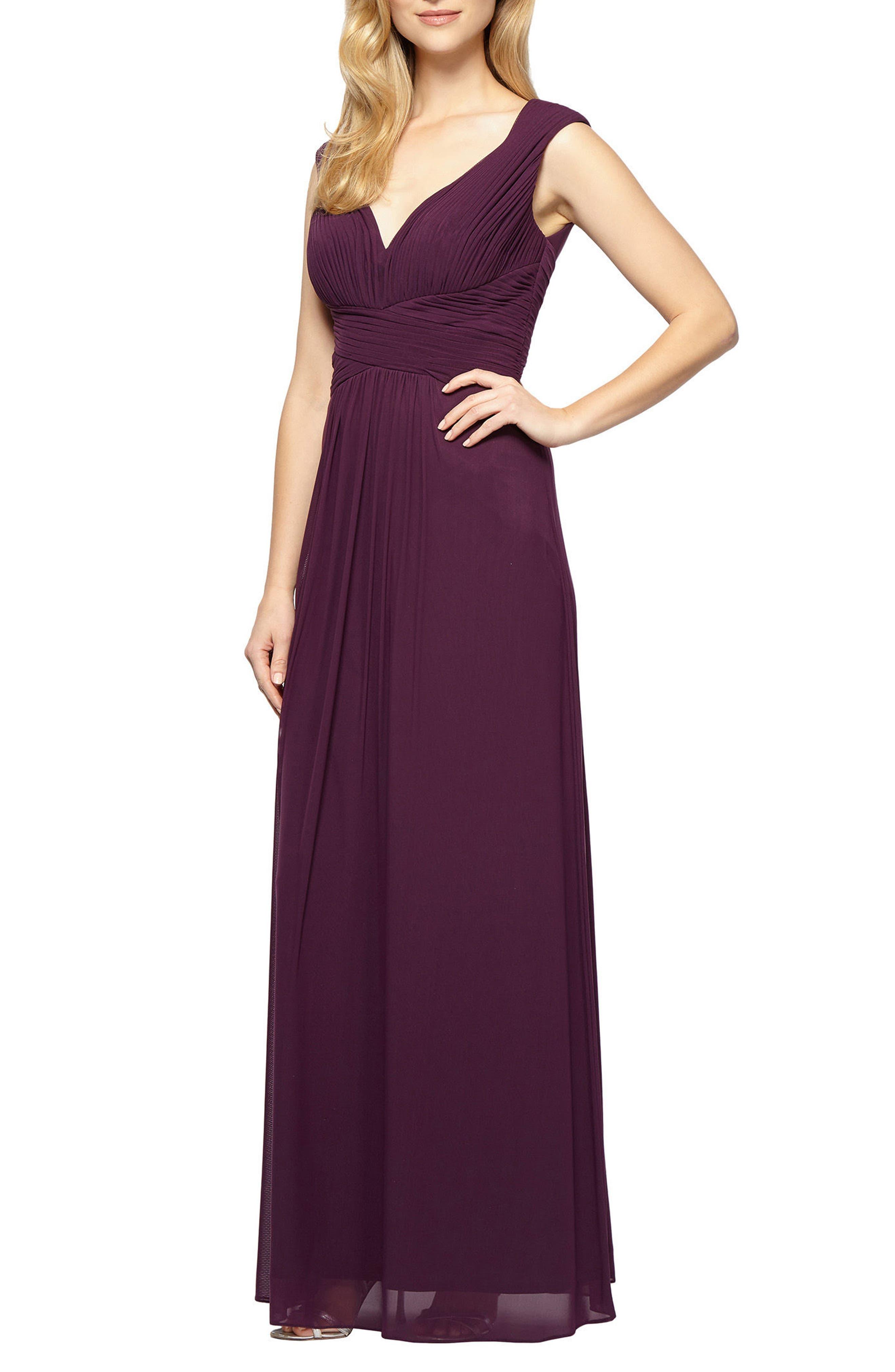Main Image - Alex Evenings A-Line Gown (Regular & Petite)