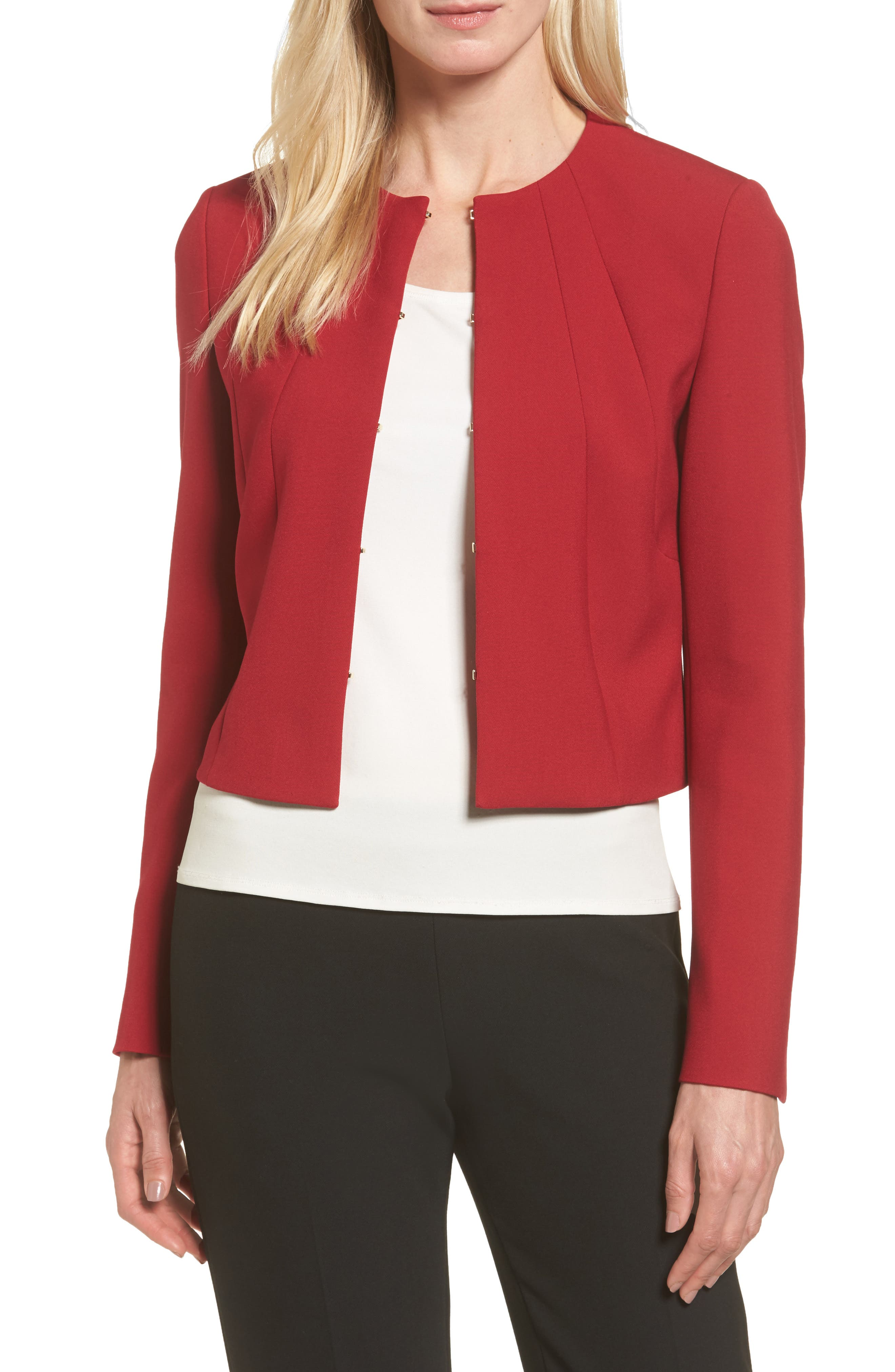 BOSS Jenisa Ponte Knit Crop Jacket