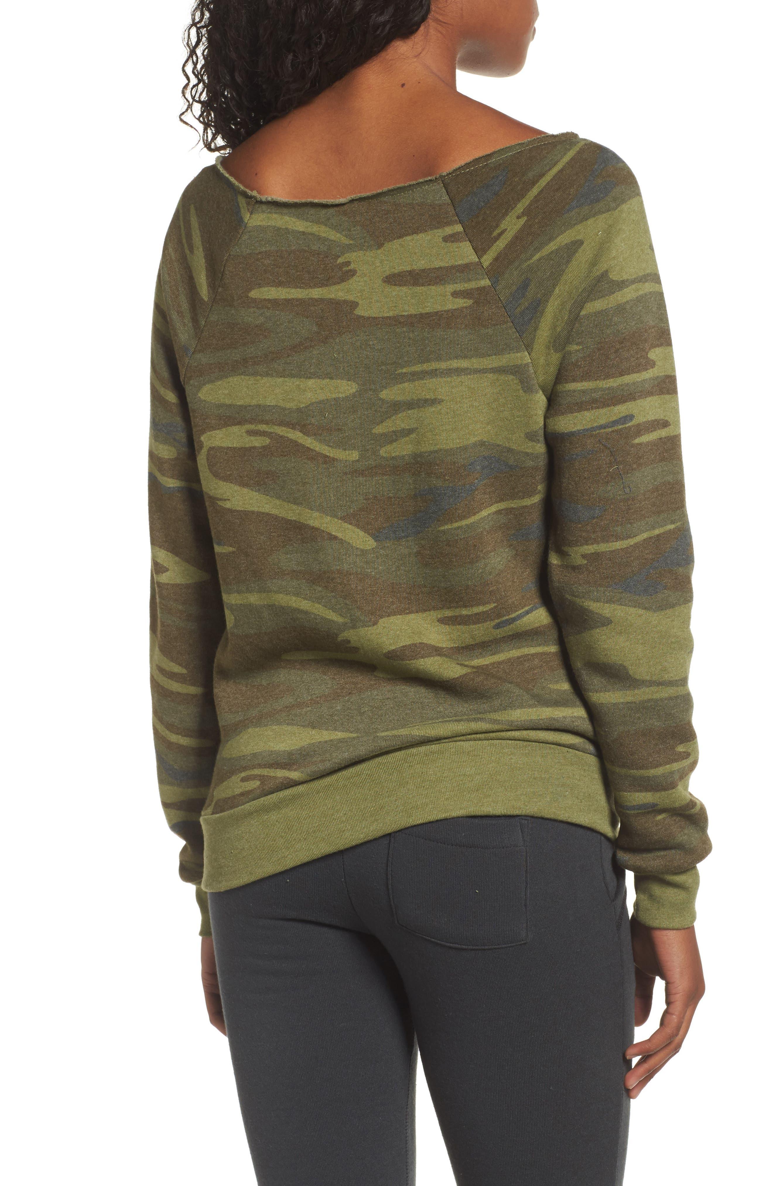 Alternate Image 2  - Alternative Maniac Camo Fleece Sweatshirt