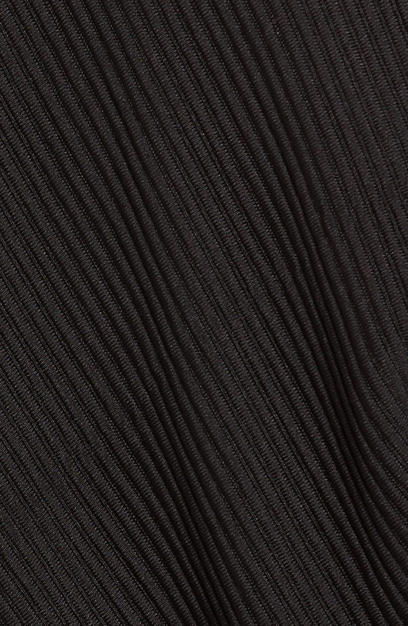 Ribbed Track Jacket,                             Alternate thumbnail 5, color,                             Black