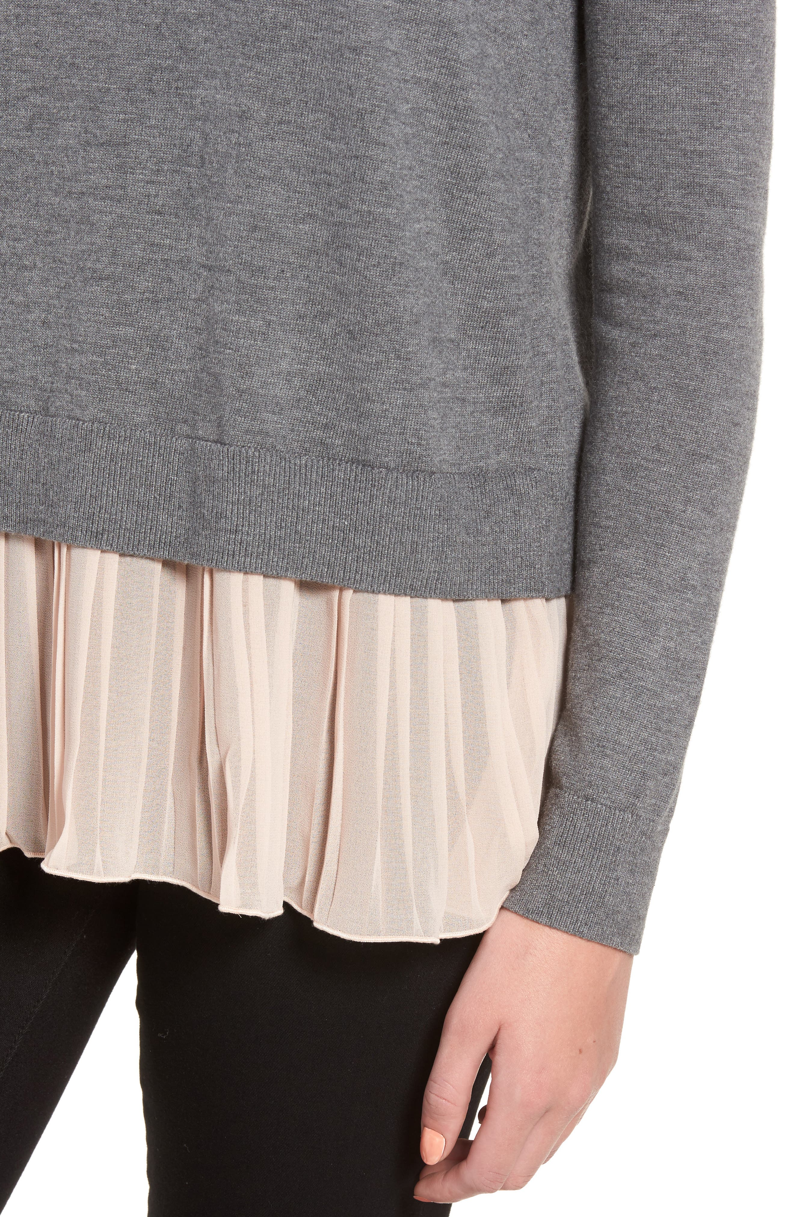 Alternate Image 4  - Chelsea28 Pleated Hem Sweater
