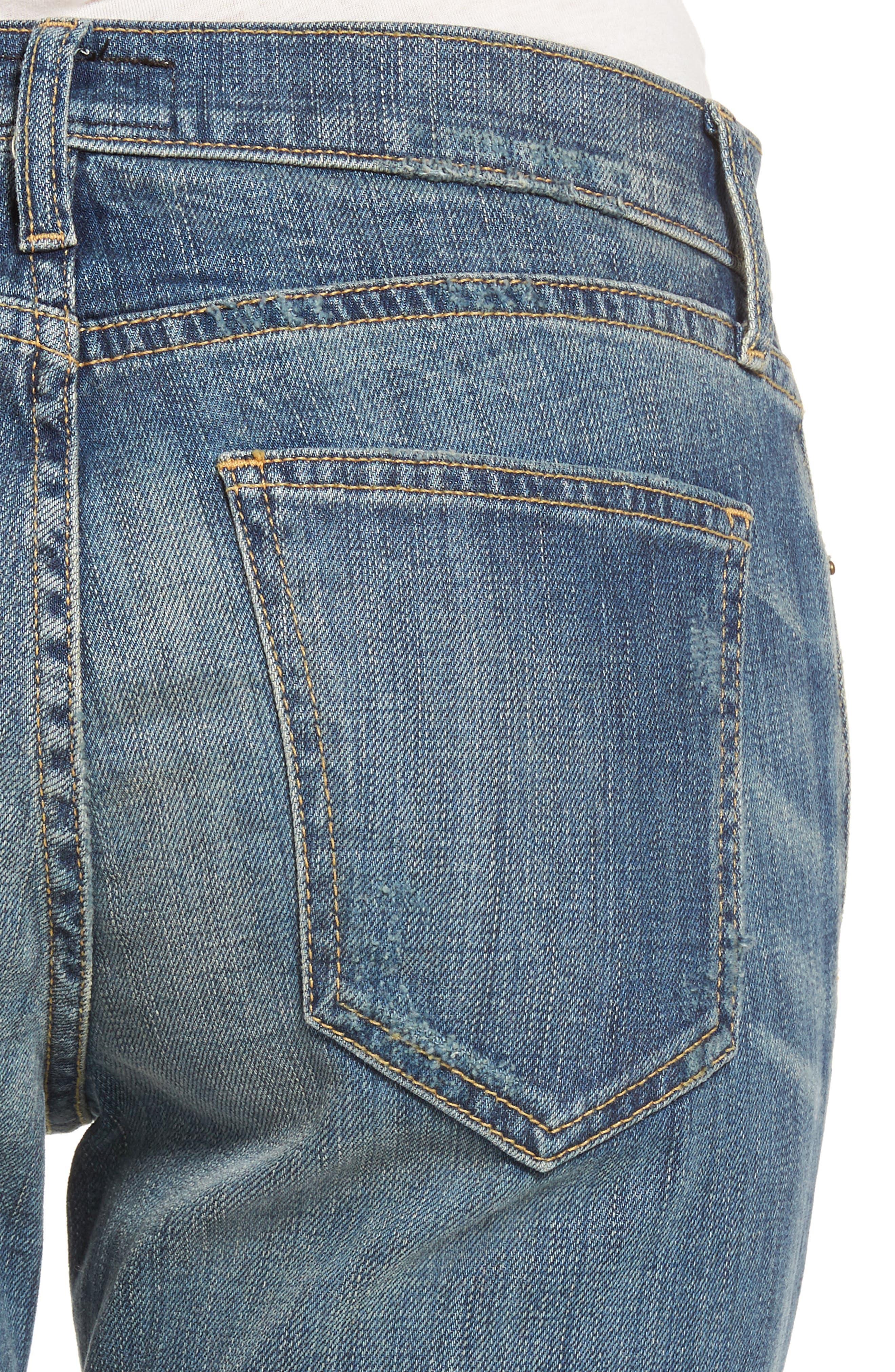 Alternate Image 4  - Current/Elliott The Cropped Straight Released Hem Jeans