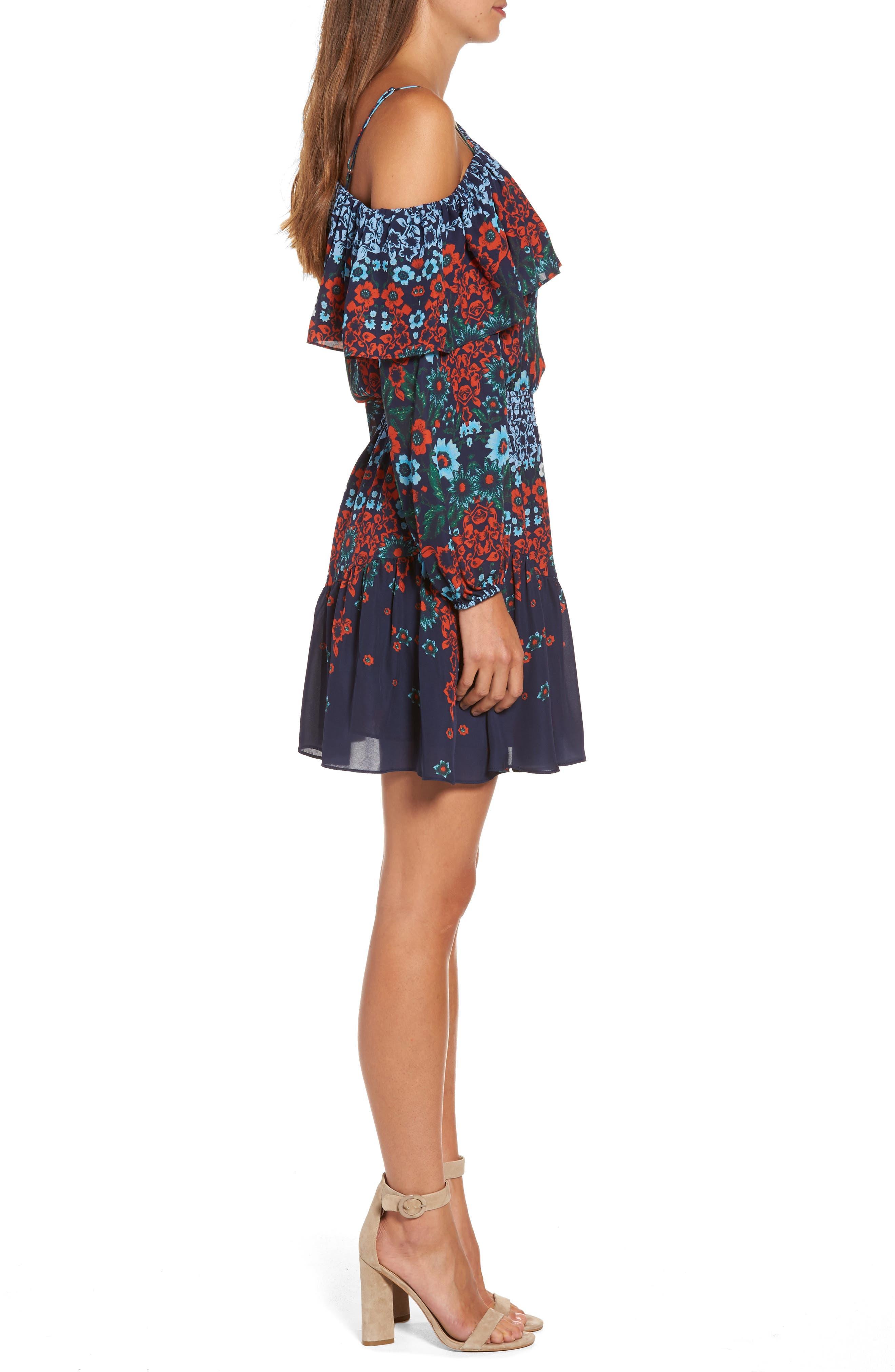 Alternate Image 3  - Parker Clarisse One-Shoulder Silk Dress