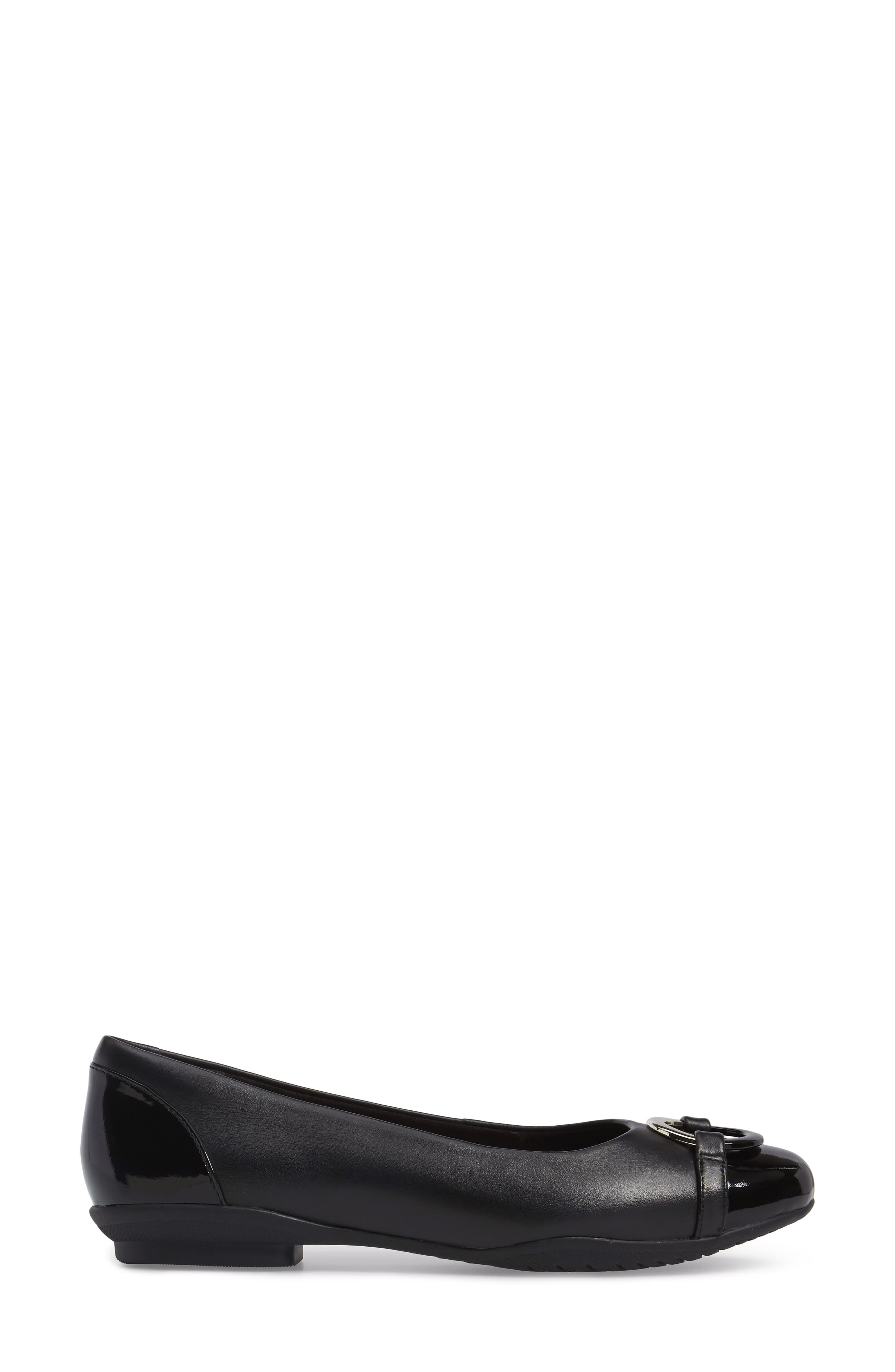Neenah Vine Flat,                             Alternate thumbnail 3, color,                             Black Leather