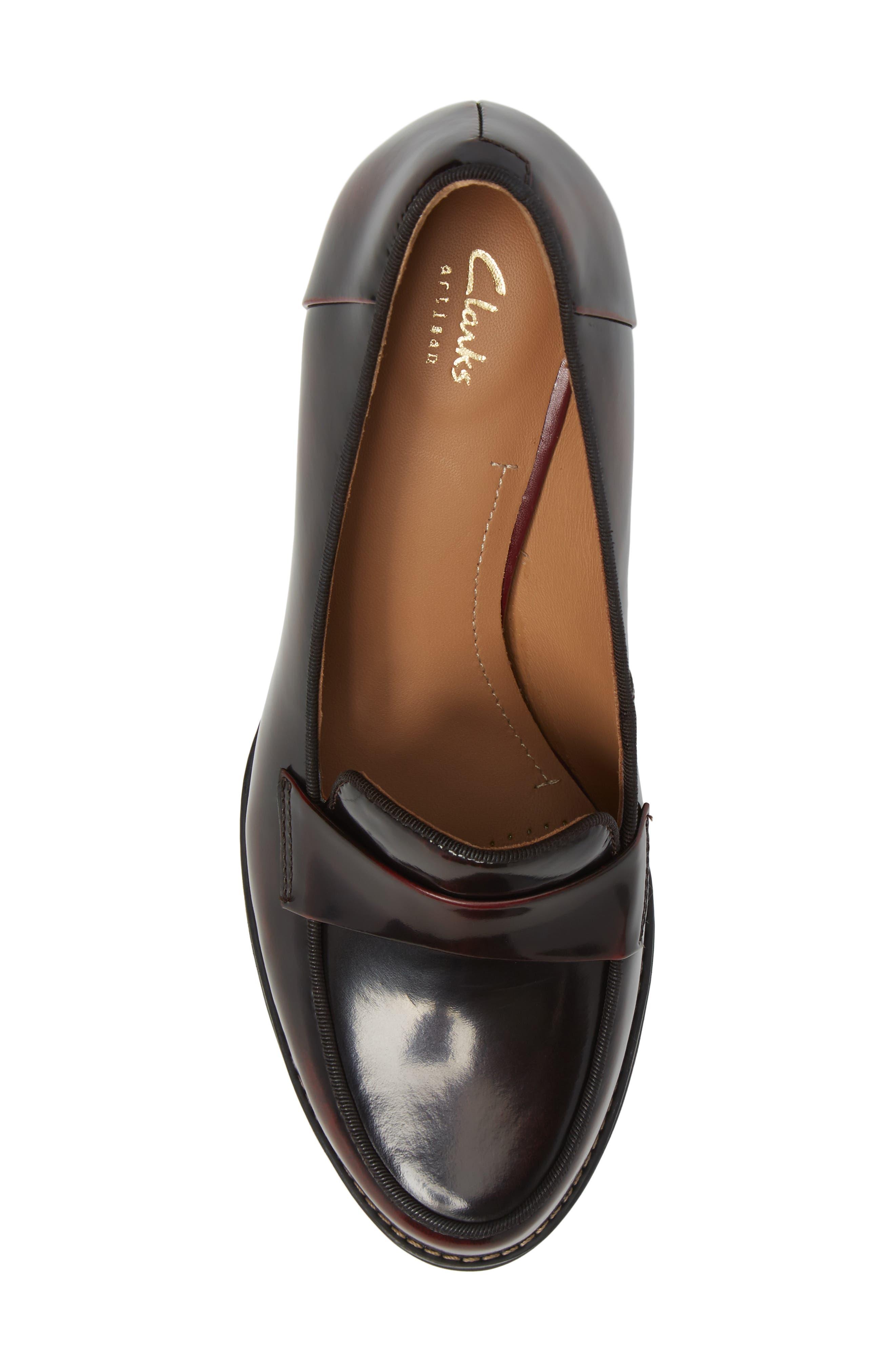 Tarah Grace Pump,                             Alternate thumbnail 5, color,                             Burgundy Leather